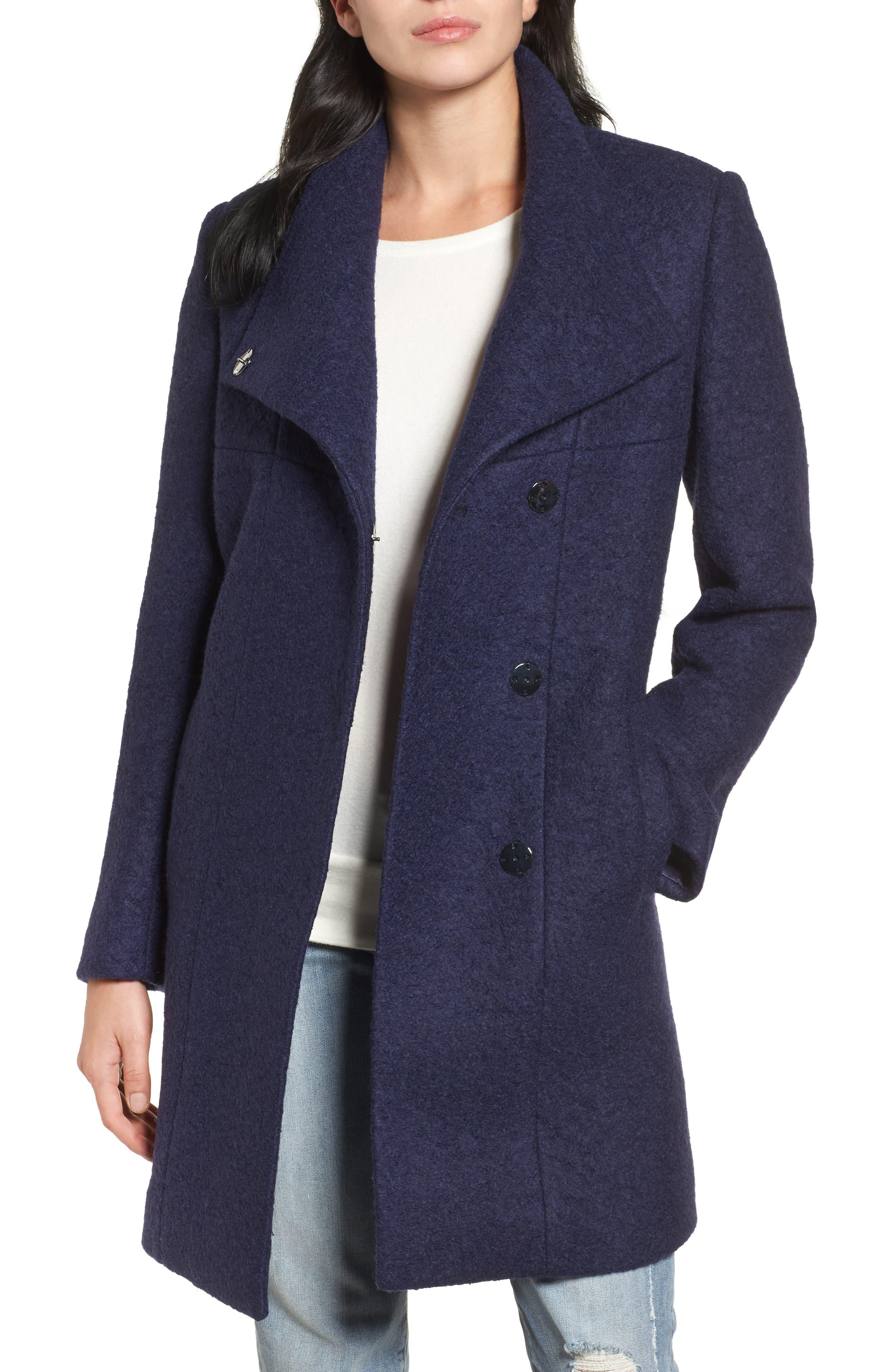 Pressed Bouclé Coat, Main, color, 513