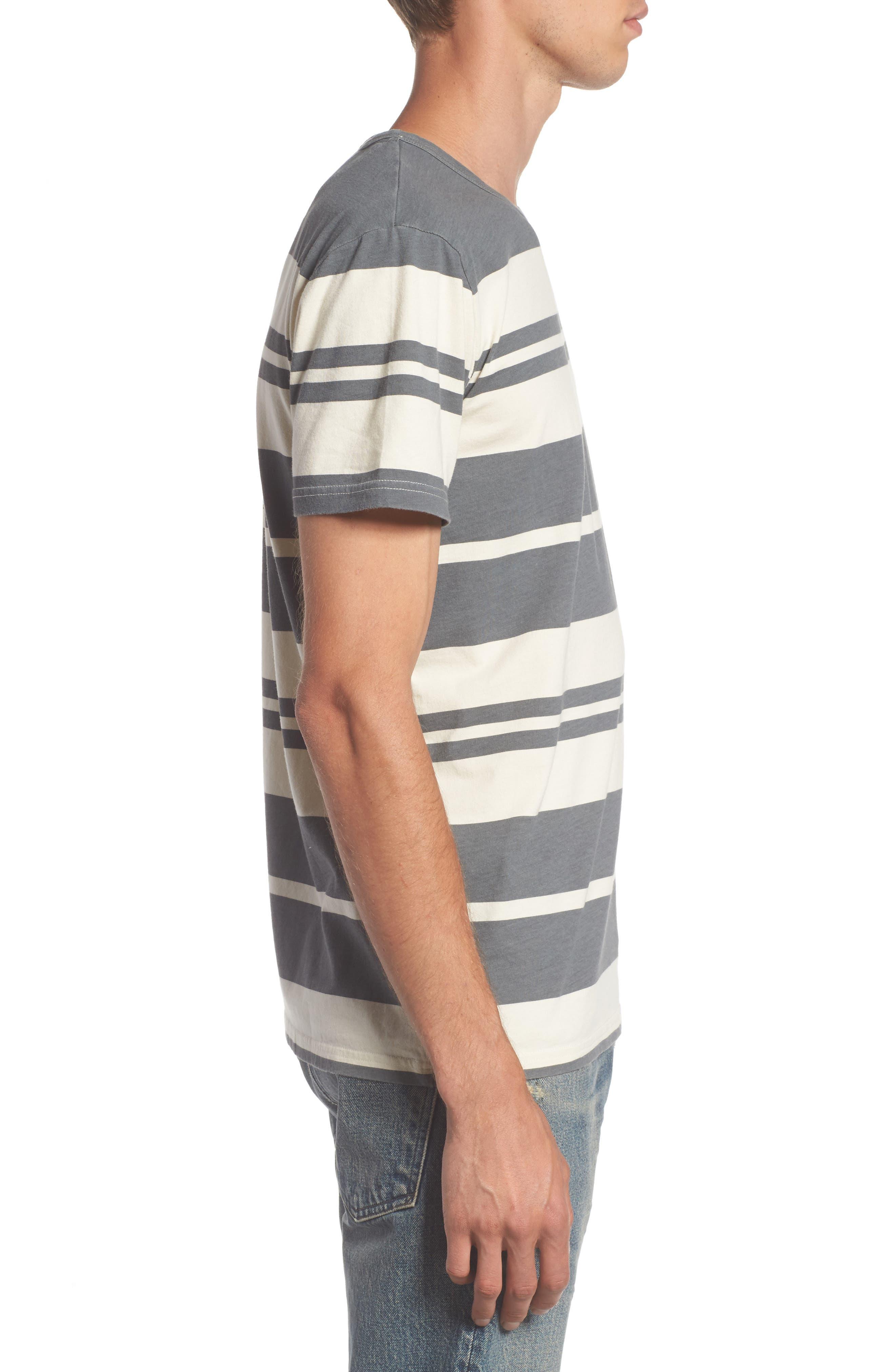Lokea Stripe Pocket T-Shirt,                             Alternate thumbnail 3, color,                             012