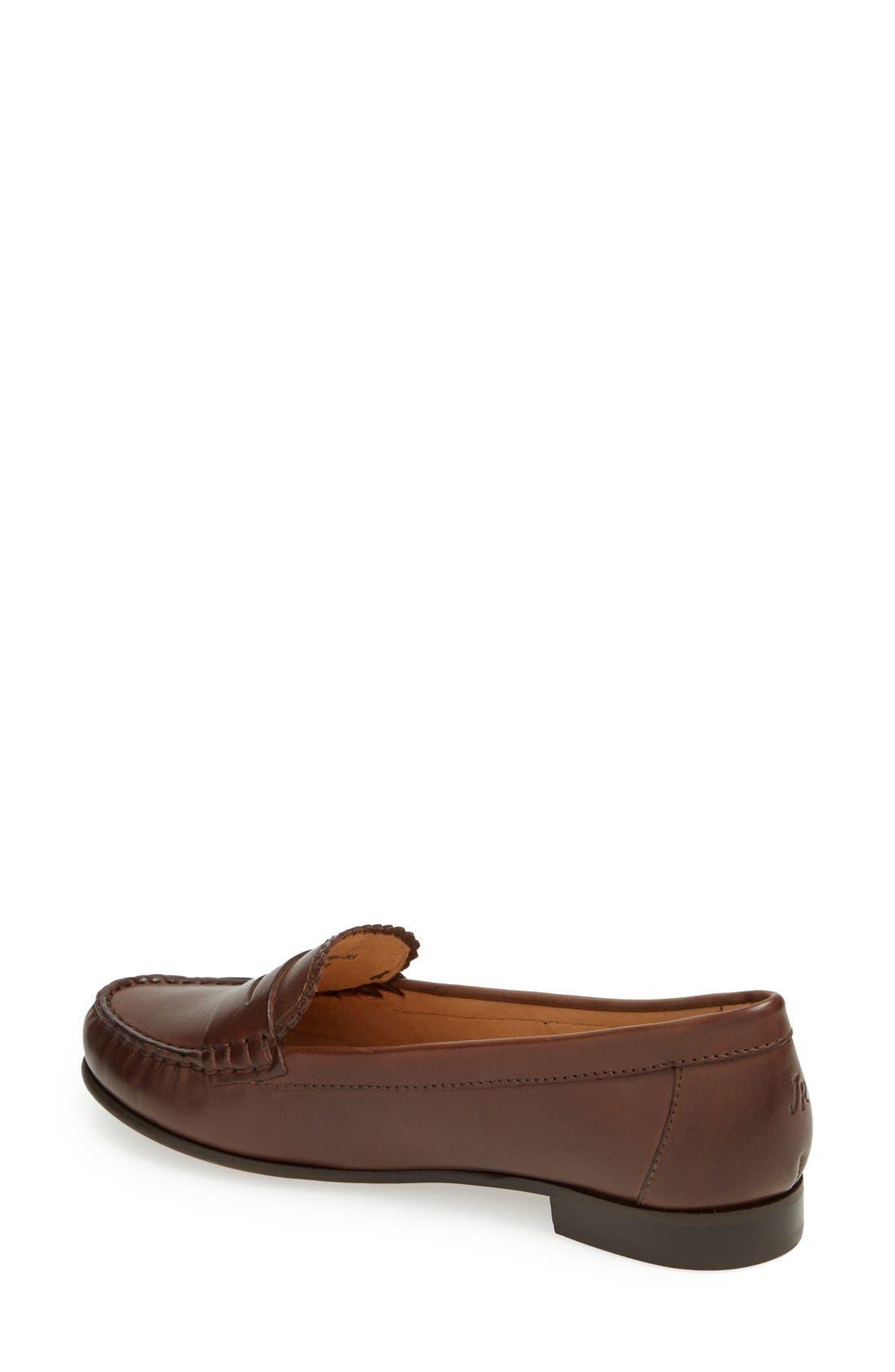 'Quinn' Leather Loafer,                             Alternate thumbnail 9, color,