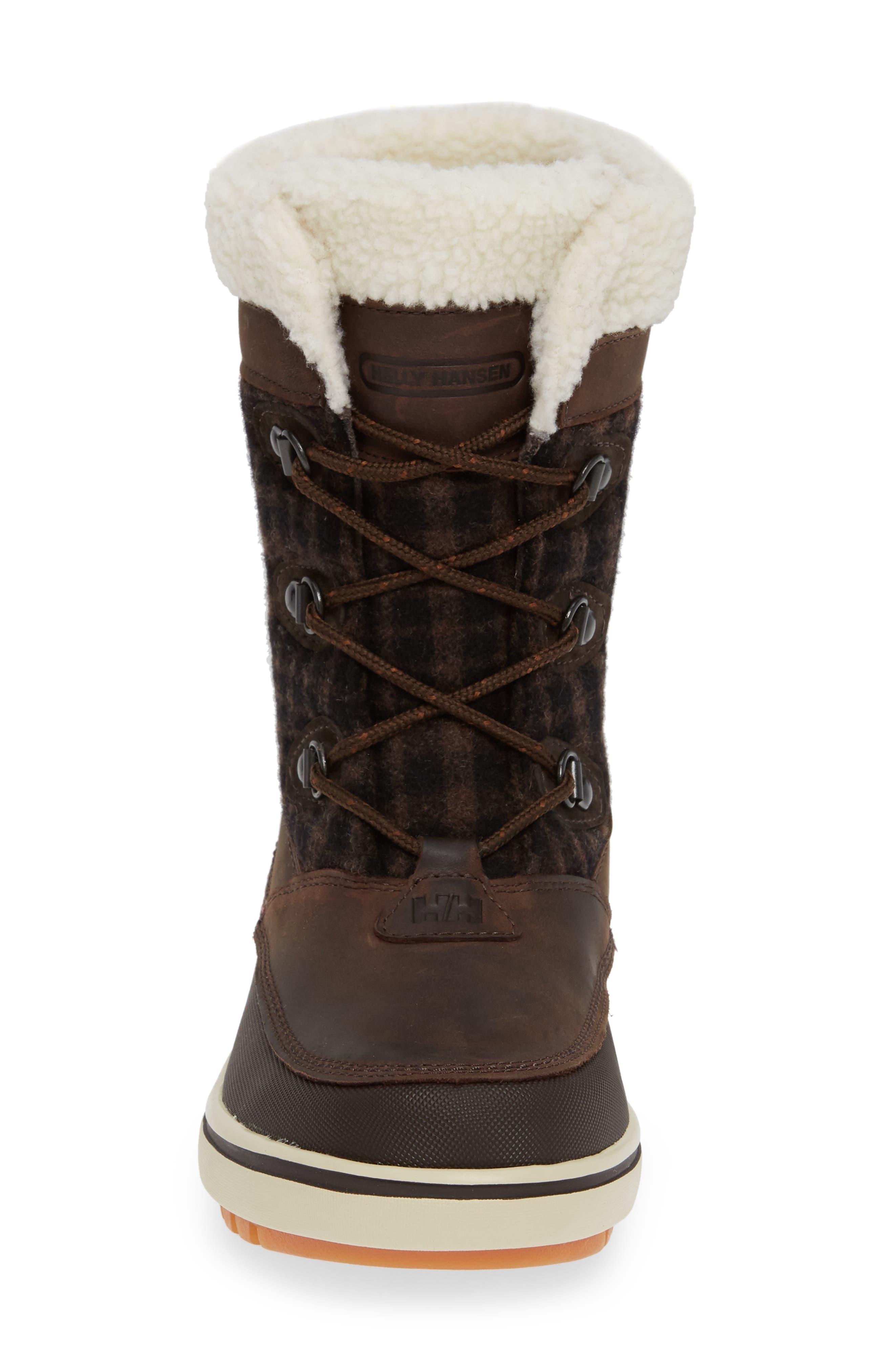 Georgina Snow Waterproof Boot,                             Alternate thumbnail 4, color,                             CLAY/ COFFEE BEAN