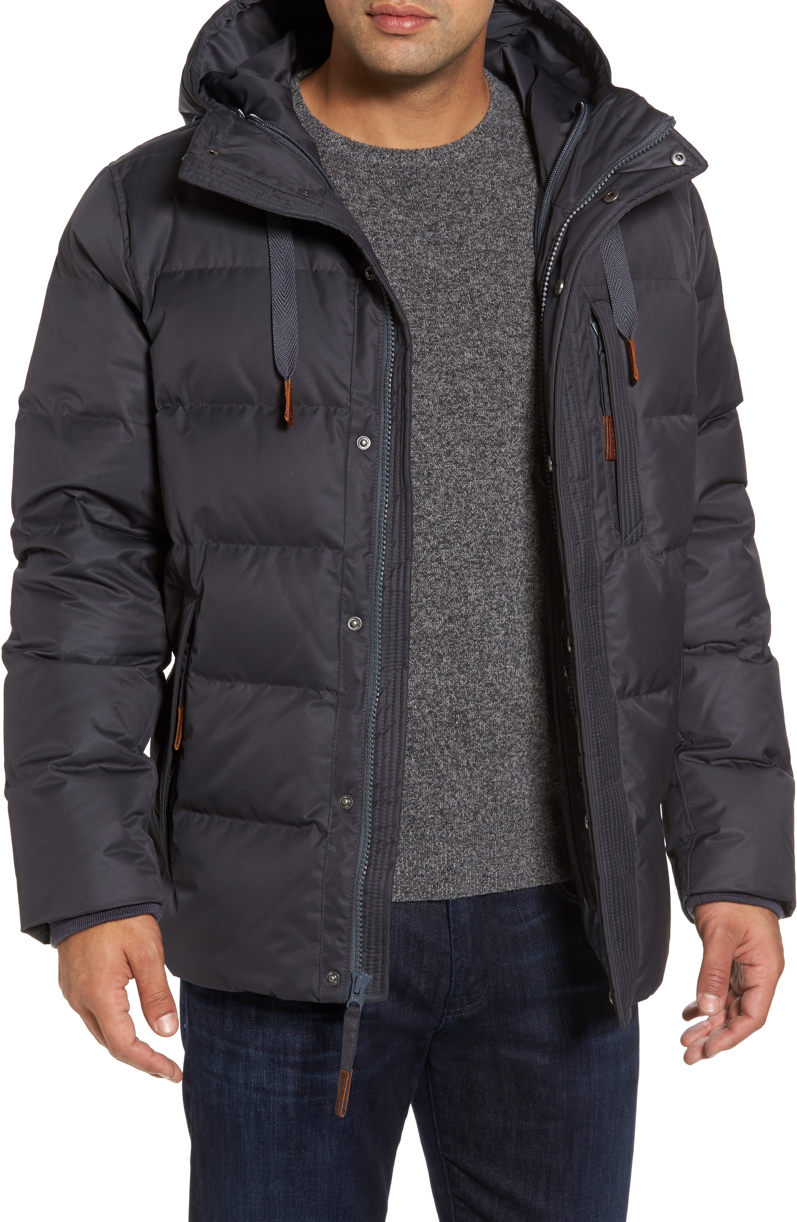 Groton Slim Down Jacket with Faux Shearling Lining,                             Alternate thumbnail 8, color,