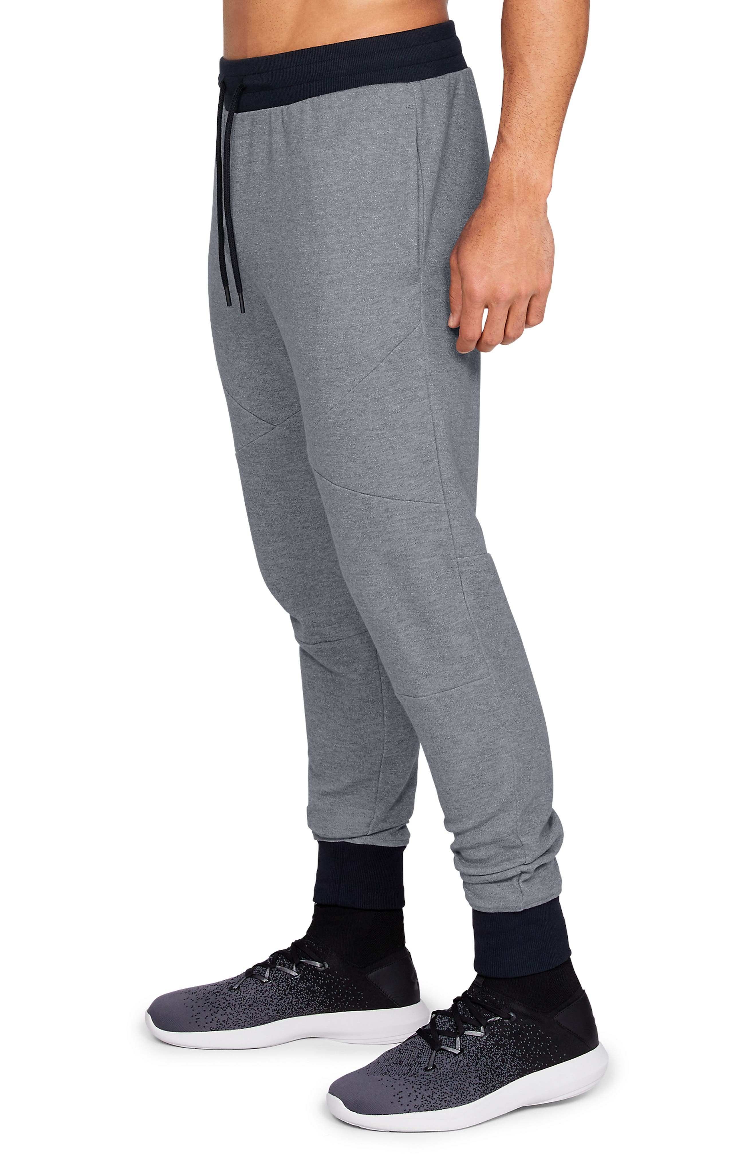 Unstoppable Double Knit Jogger Pants,                             Alternate thumbnail 3, color,                             STEEL
