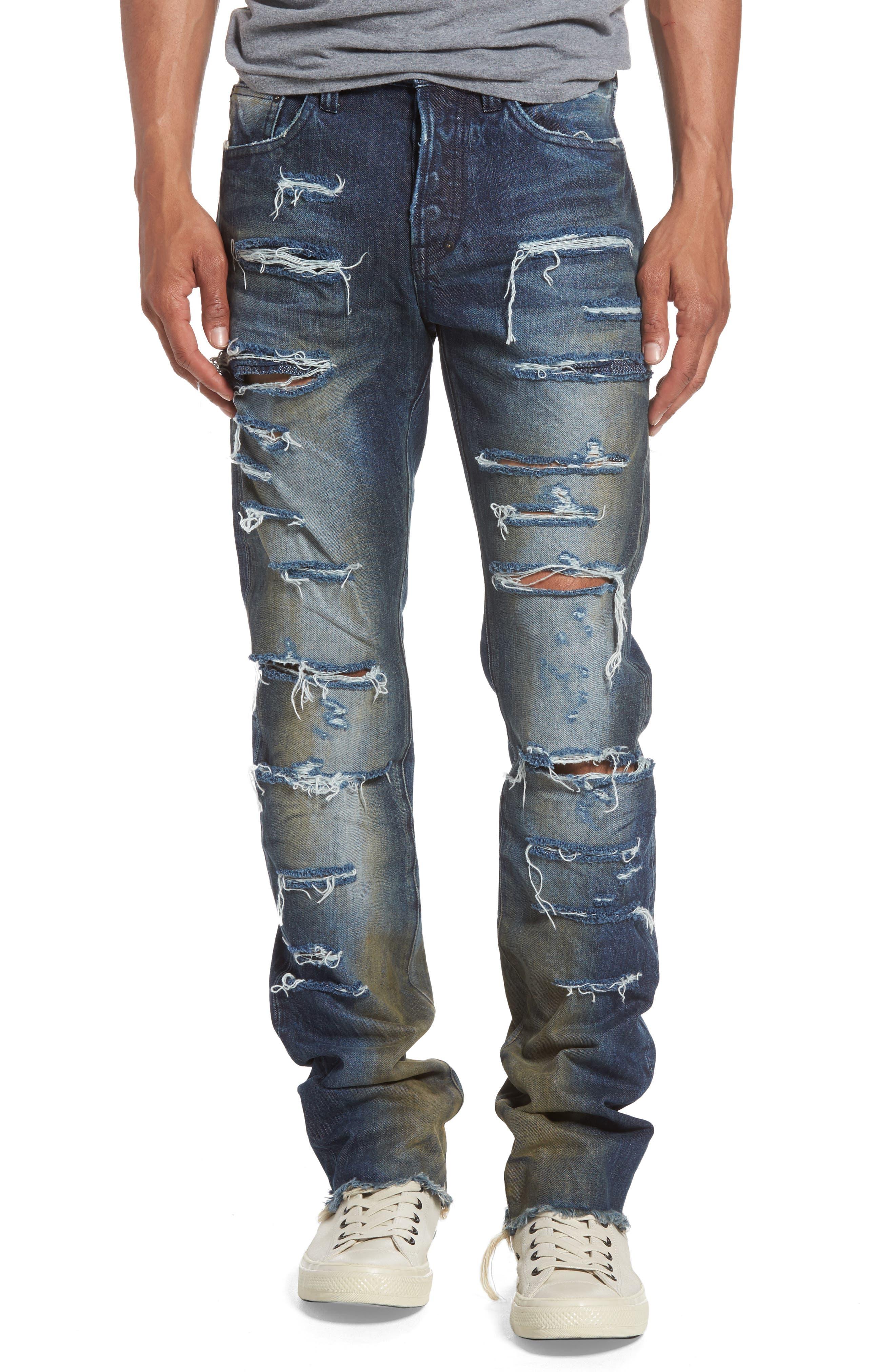 Demon Slim Straight Leg Jeans,                         Main,                         color, 490