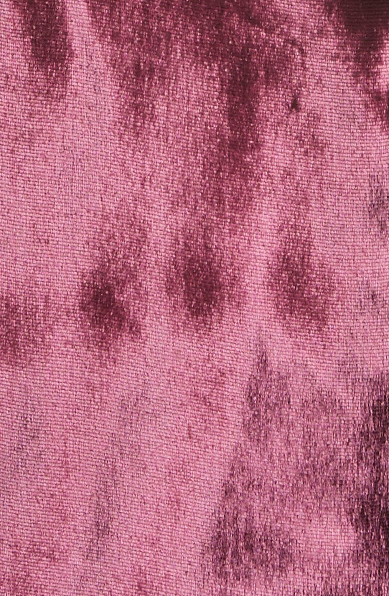 Panne Velvet Body-Con Off-the-Shoulder Dress,                             Alternate thumbnail 5, color,