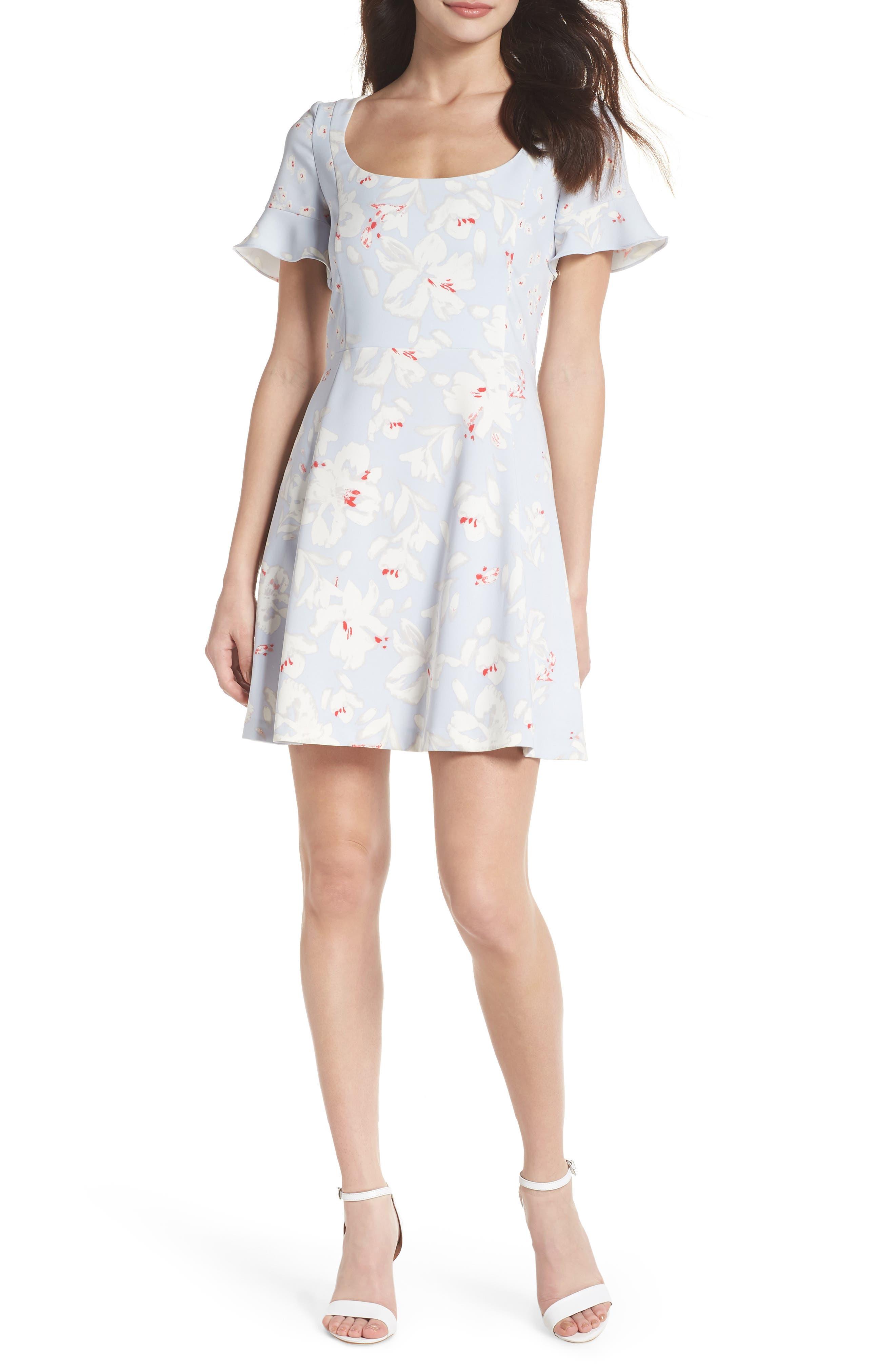 Alba Scoop Neck A-Line Dress,                         Main,                         color, 450