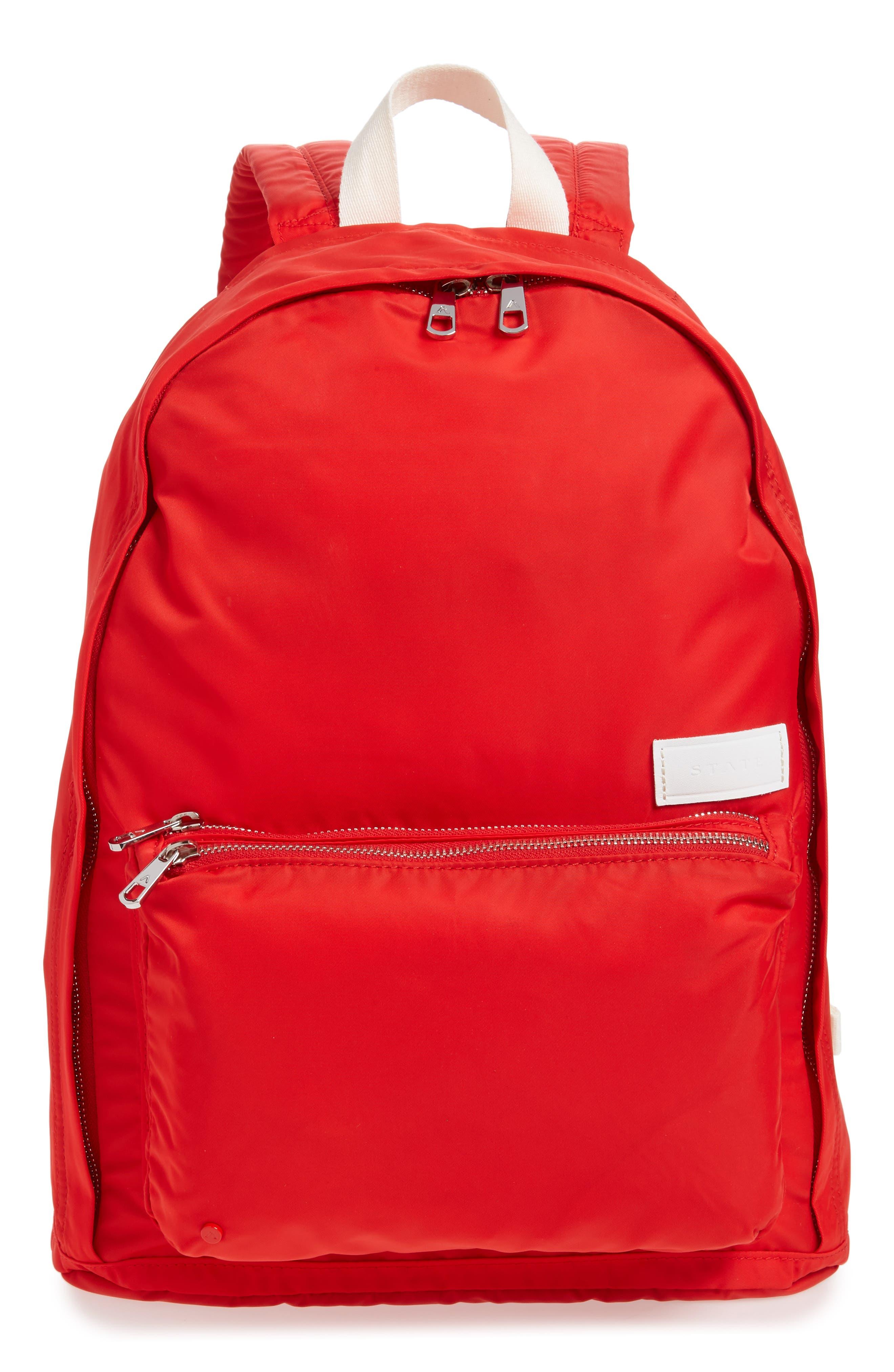 Heights Lorimer Nylon Backpack,                             Main thumbnail 1, color,                             RED
