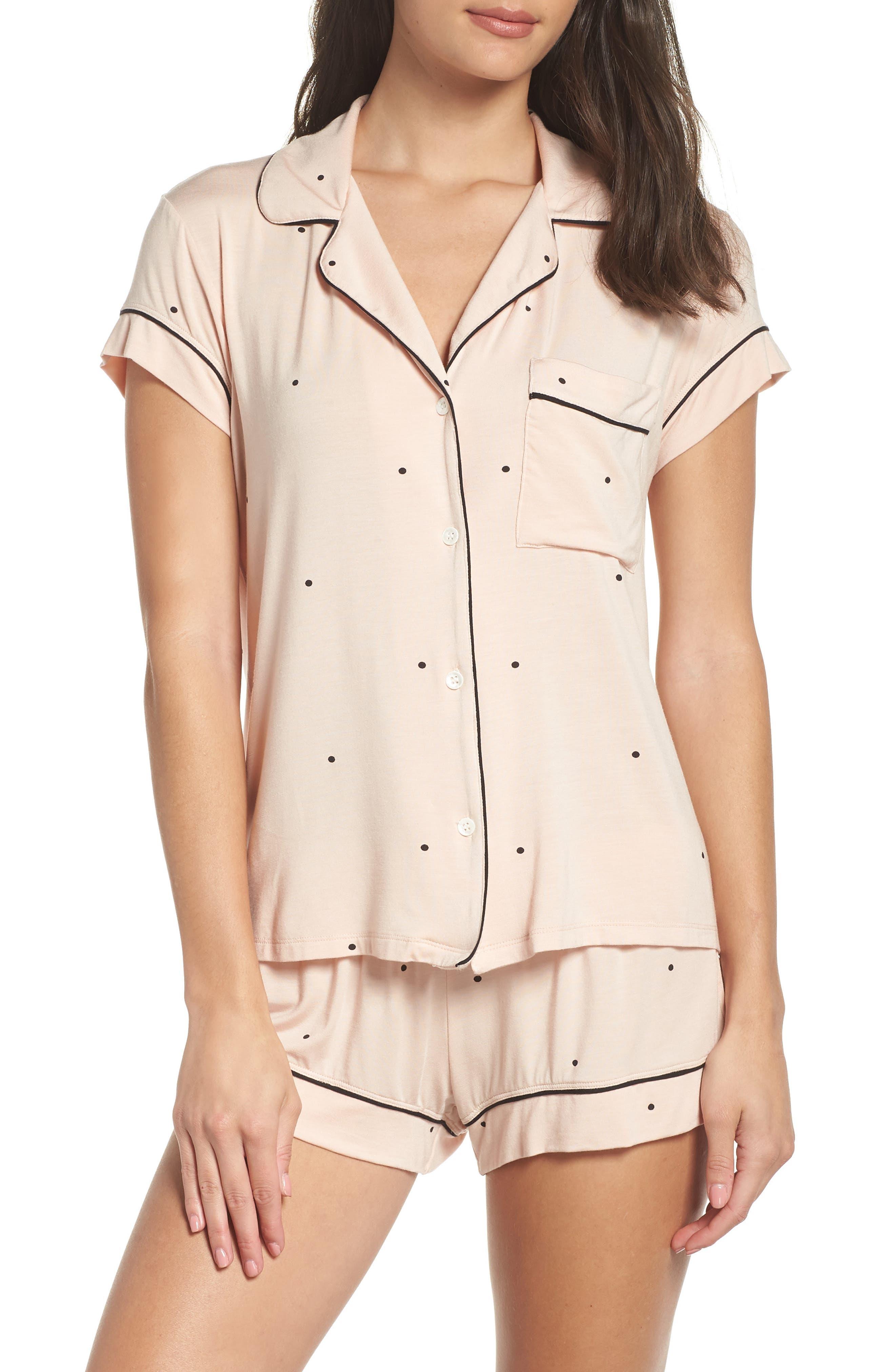 EBERJEY,                             Dots Short Pajamas,                             Main thumbnail 1, color,                             655