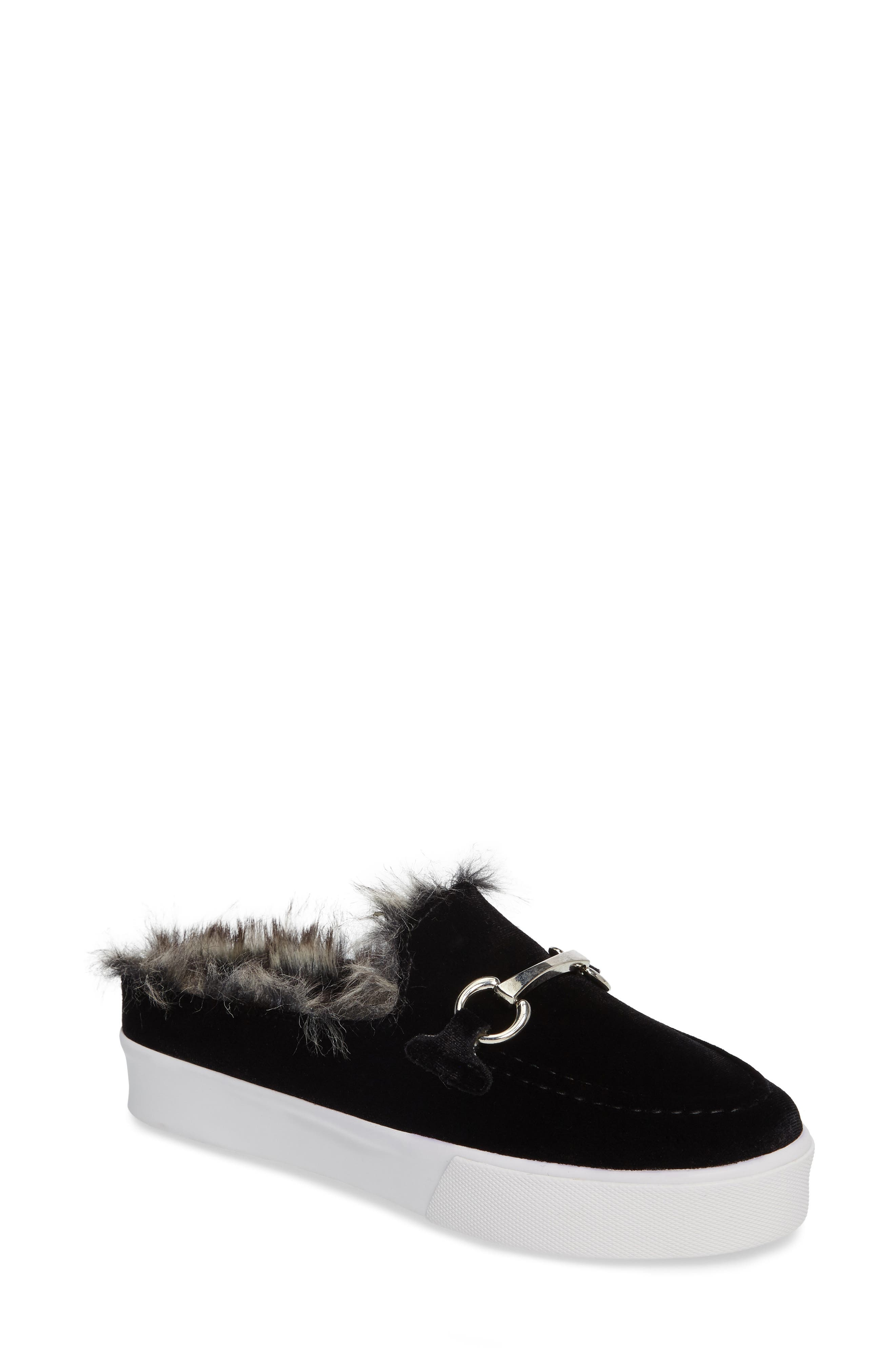 Tico Faux Fur Sneaker Mule,                             Main thumbnail 1, color,                             003