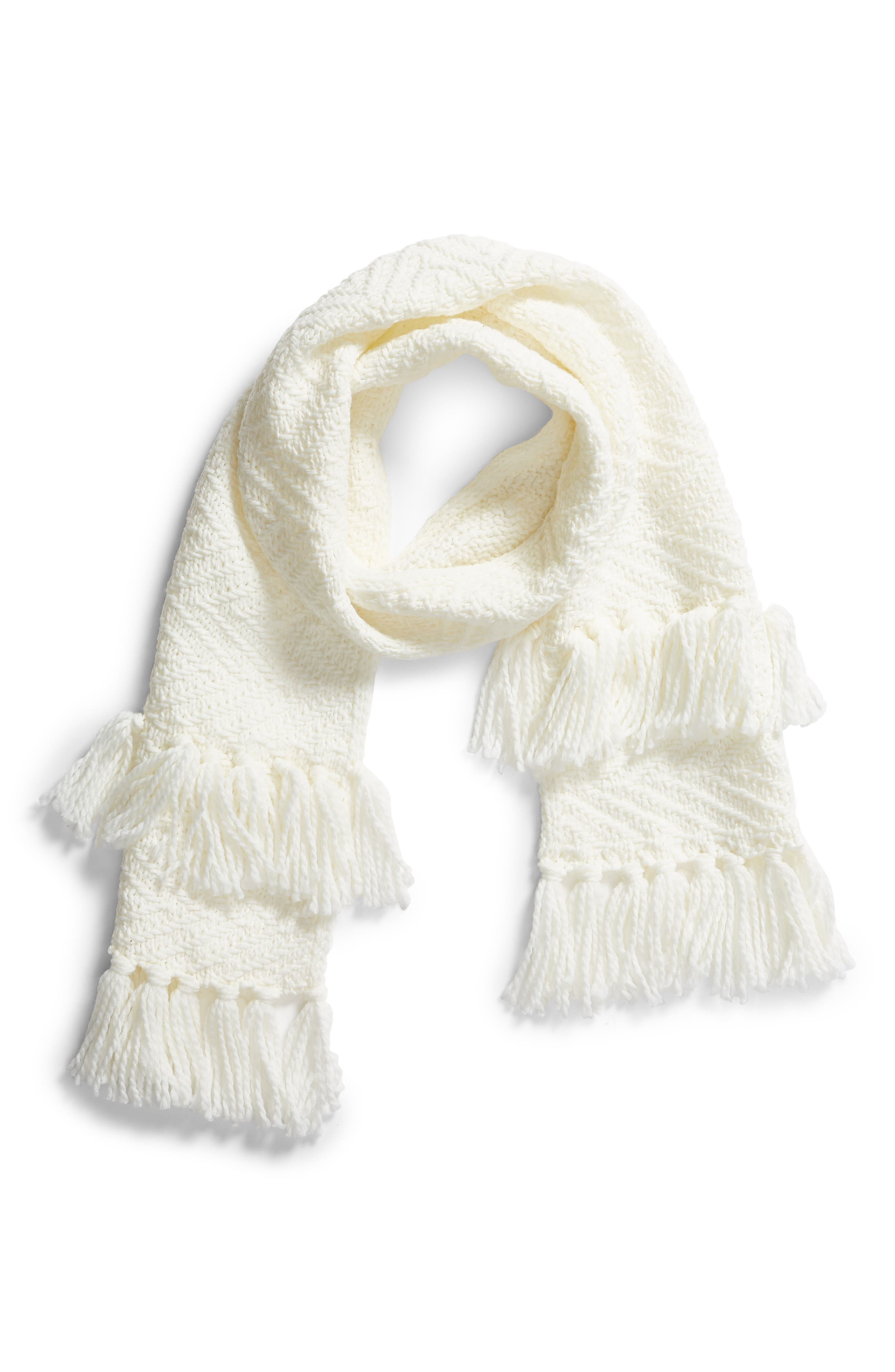 Chunky Zigzag Muffler,                             Alternate thumbnail 2, color,                             IVORY
