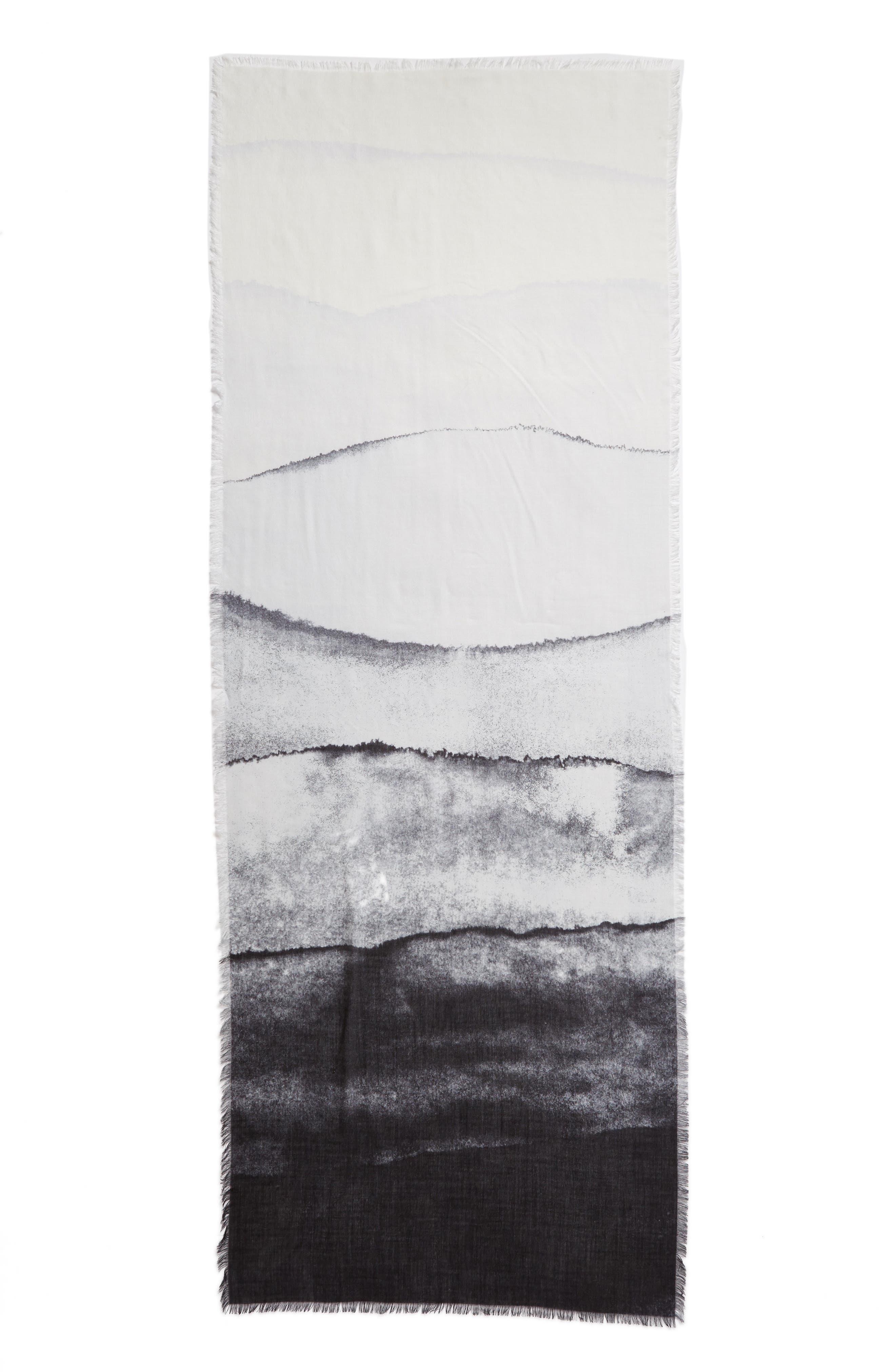 Eyelash Trim Print Cashmere & Silk Wrap,                             Alternate thumbnail 71, color,