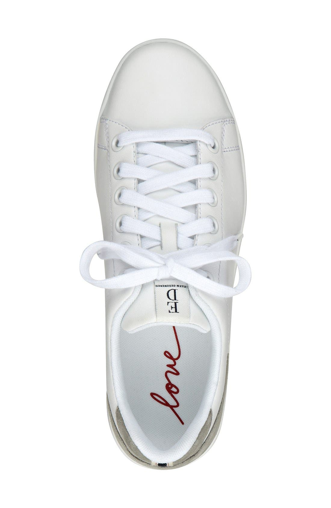 'Chapala' Sneaker,                             Alternate thumbnail 5, color,                             PURE WHITE LEATHER/ STEEL GREY