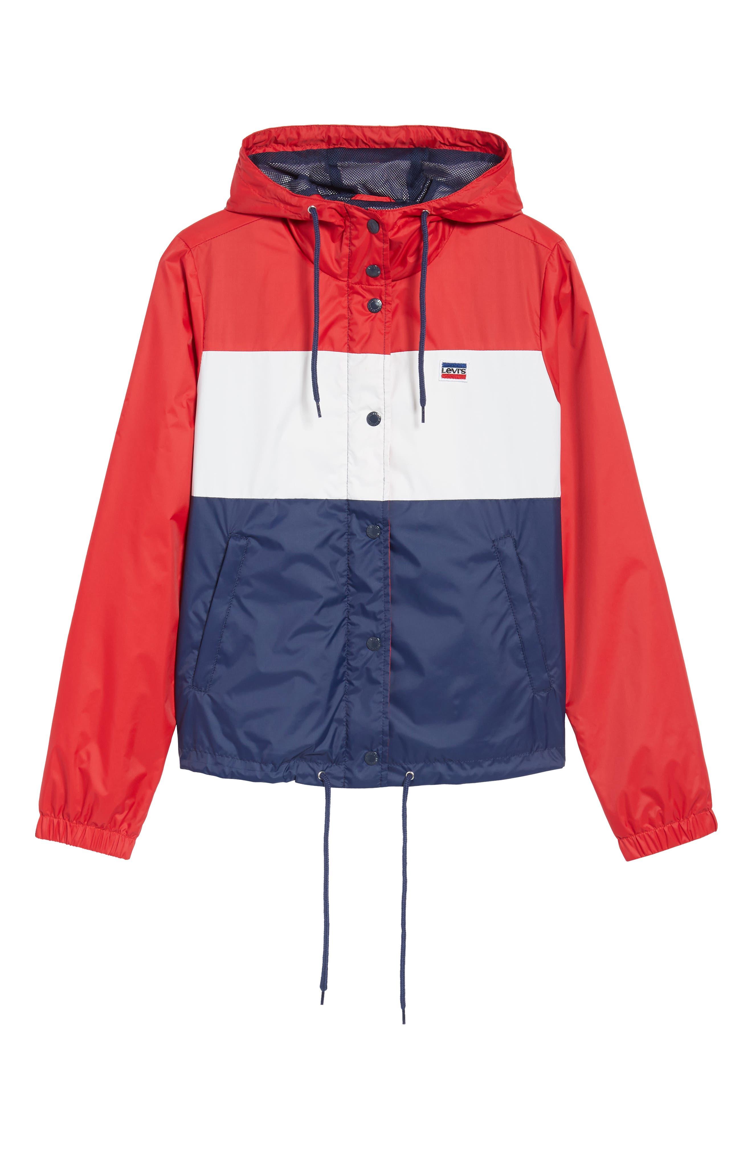 Retro Hooded Coach's Jacket,                             Alternate thumbnail 24, color,