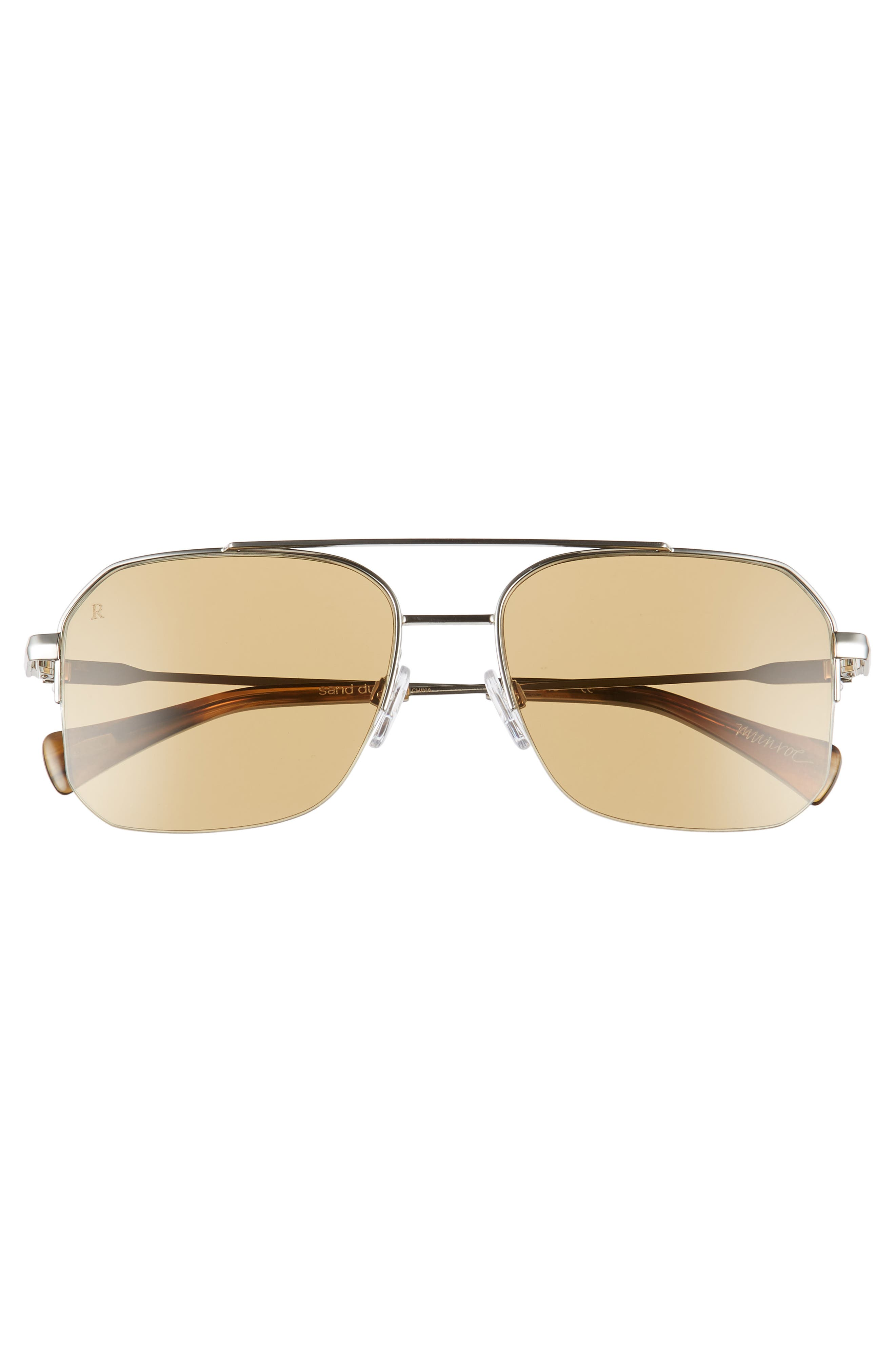 Munroe 55mm Square Aviator Sunglasses,                             Alternate thumbnail 2, color,                             SAND DUNE