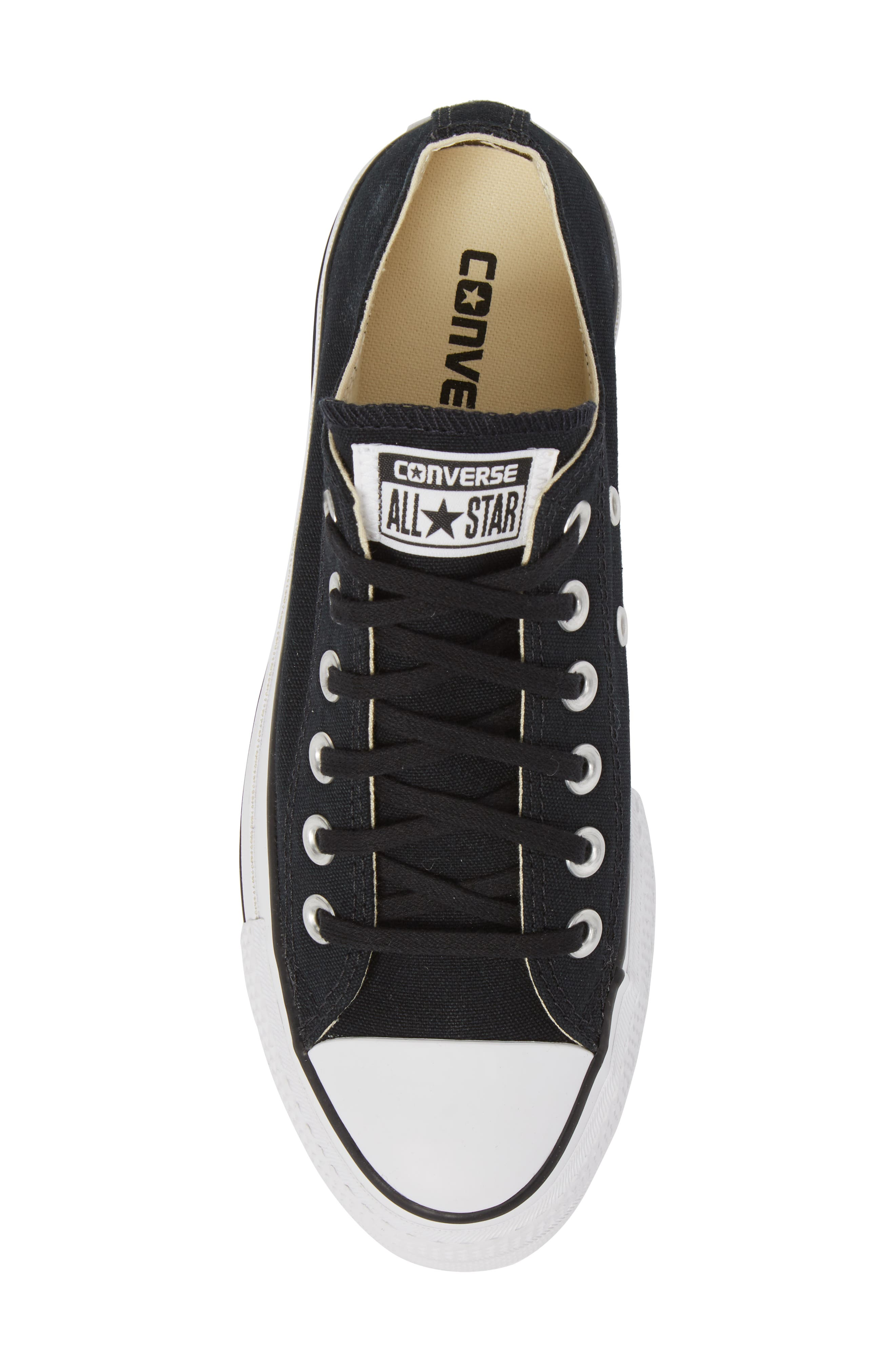 Chuck Taylor<sup>®</sup> All Star<sup>®</sup> Platform Sneaker,                             Alternate thumbnail 5, color,                             BLACK/ WHITE/ WHITE