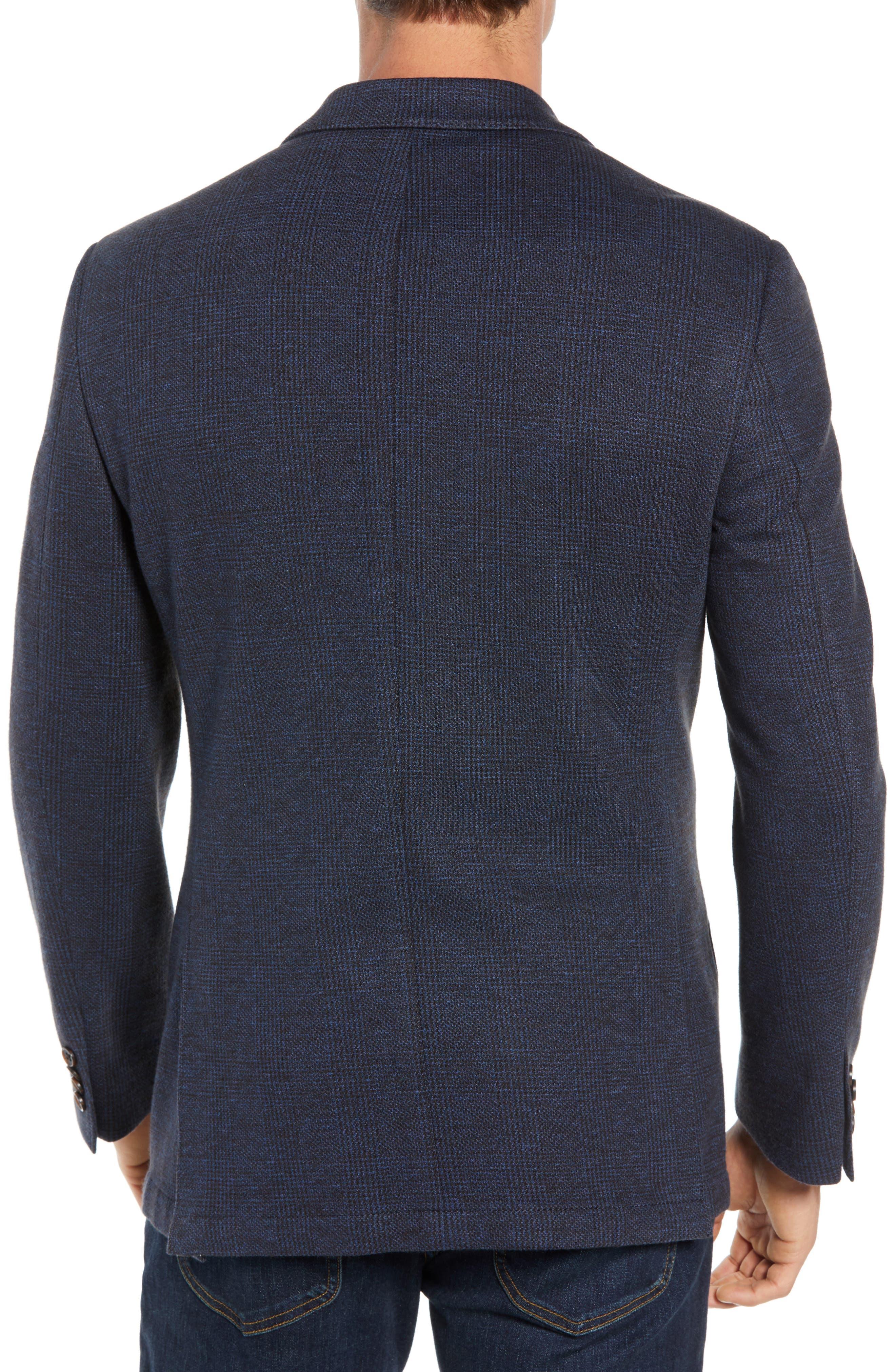 Regular Fit Knit Sport Coat,                             Alternate thumbnail 2, color,                             BROWN