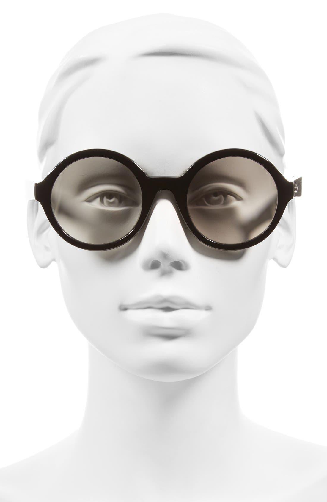 'khriss' 52mm round sunglasses,                             Alternate thumbnail 2, color,                             001