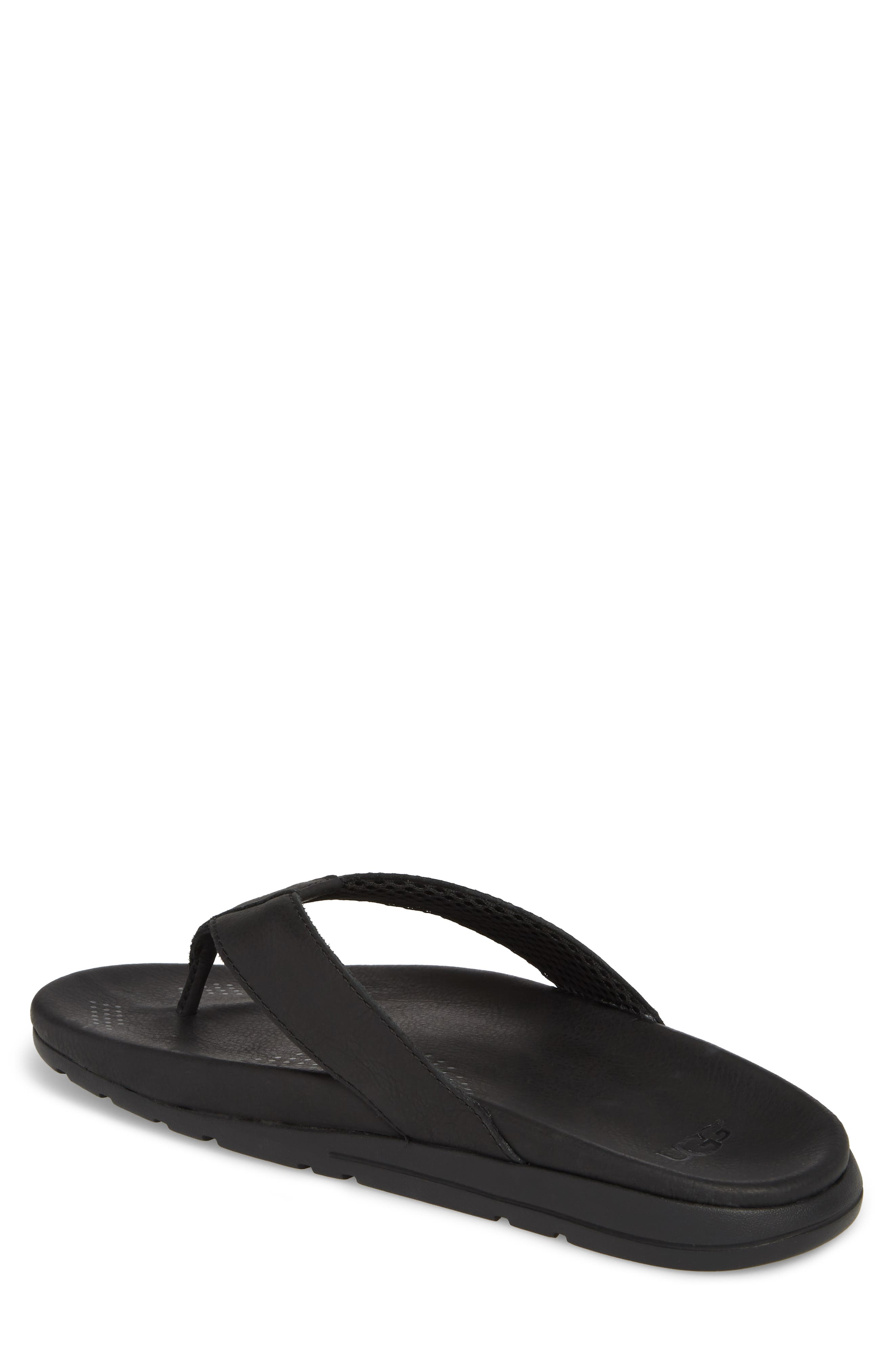 UGG<SUP>®</SUP>,                             Tenoch Luxe Flip Flop,                             Alternate thumbnail 2, color,                             001