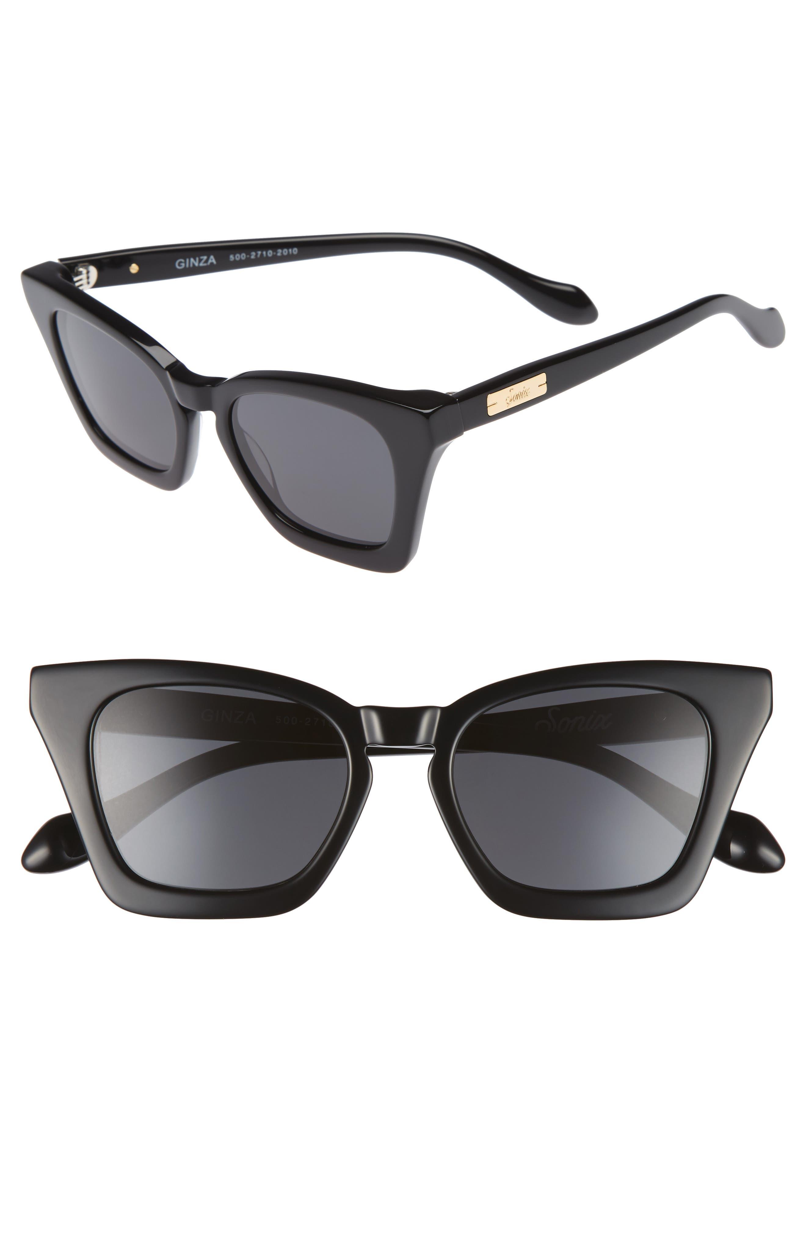 Ginza 50mm Cat Eye Sunglasses,                             Main thumbnail 1, color,                             001