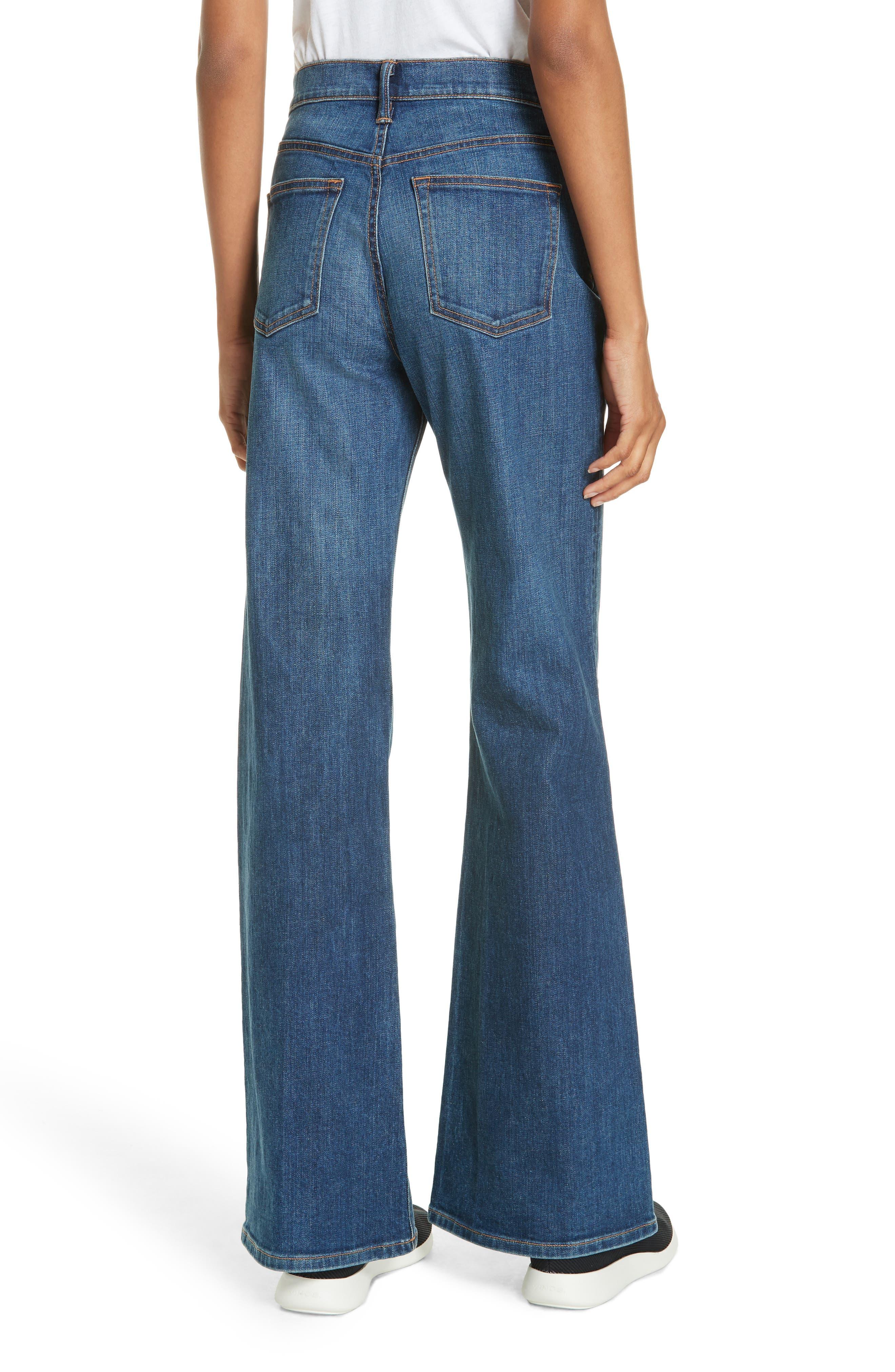 Wide Flare Leg Jeans,                             Alternate thumbnail 2, color,                             TRUE VINTAGE WASH