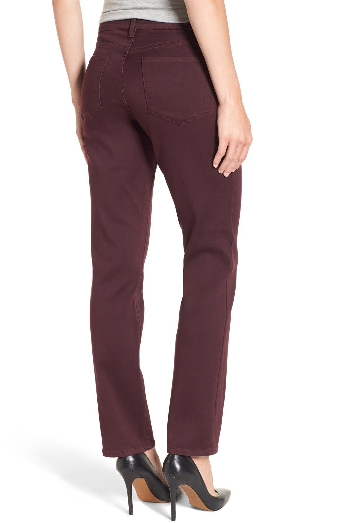 'Sheri' Stretch Twill Slim Leg Pants,                             Alternate thumbnail 7, color,