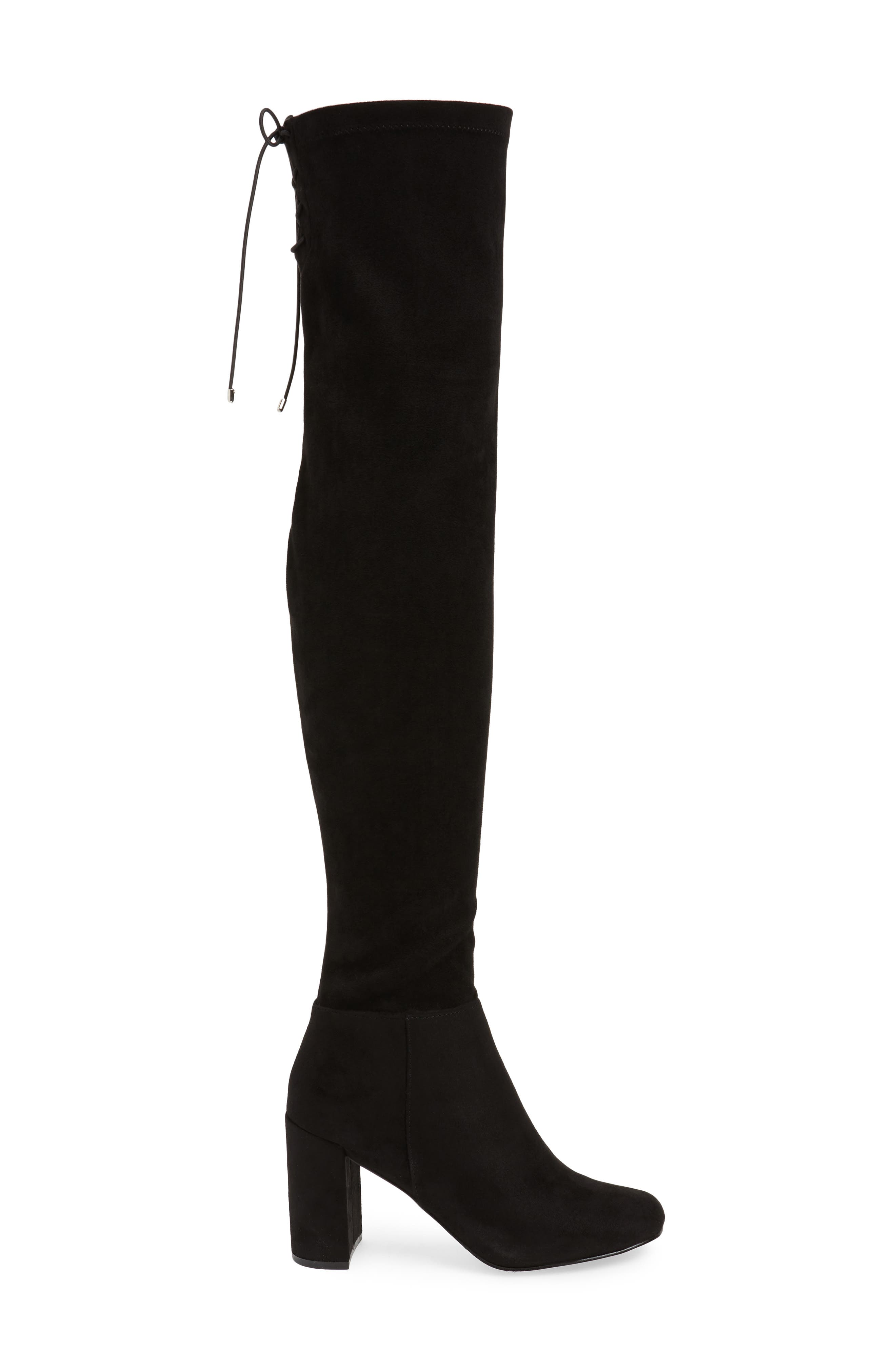 King Over the Knee Boot,                             Alternate thumbnail 3, color,                             BLACK