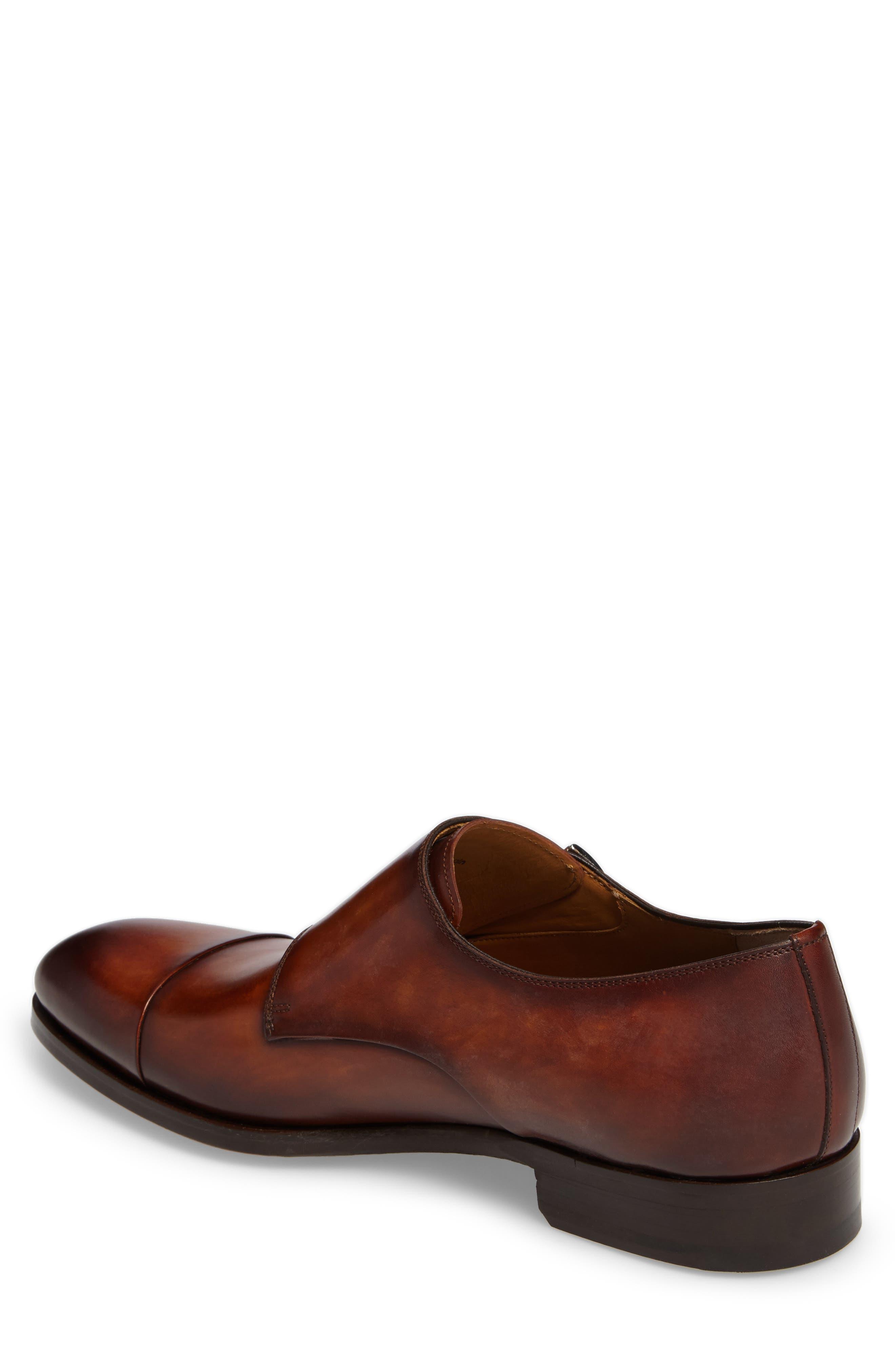 Louie Double Monk Strap Shoe,                             Alternate thumbnail 2, color,                             COGNAC LEATHER