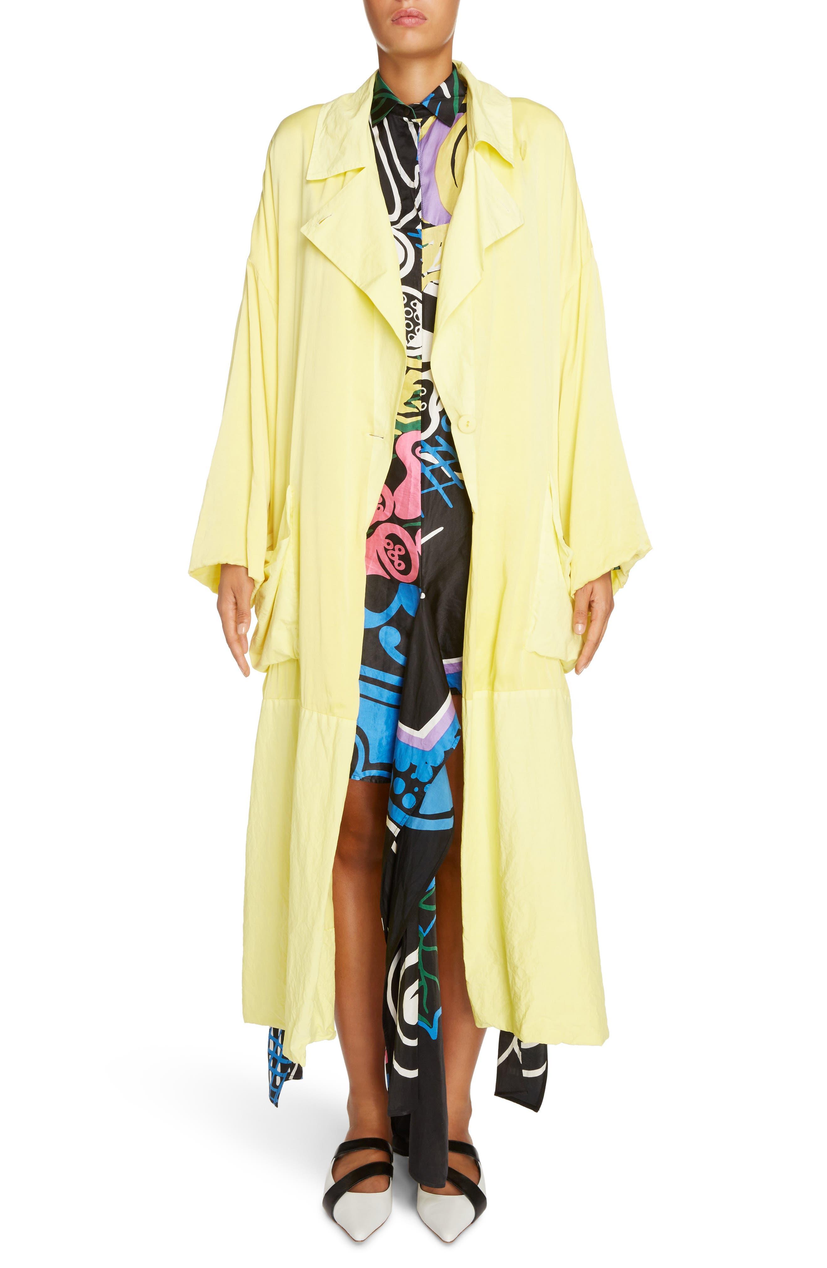 Soft Silk Wrap Coat,                             Alternate thumbnail 7, color,                             700