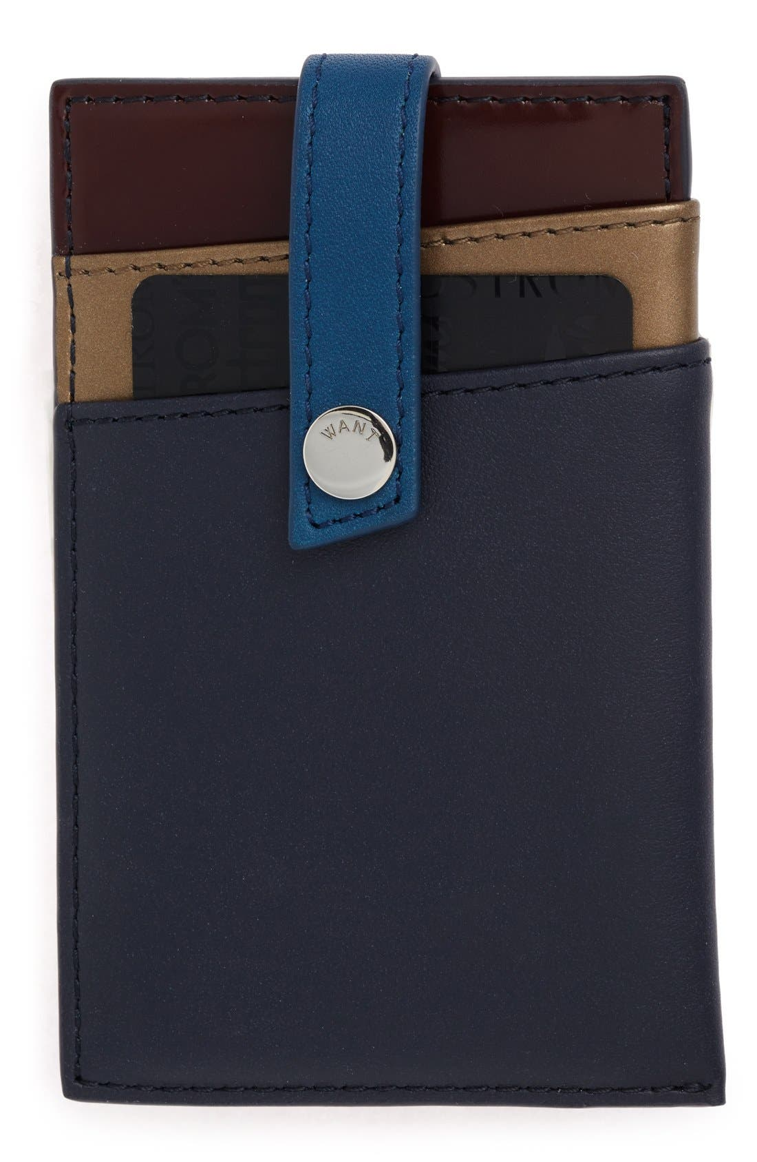 'Kennedy' Leather Money Clip Card Case,                             Main thumbnail 4, color,