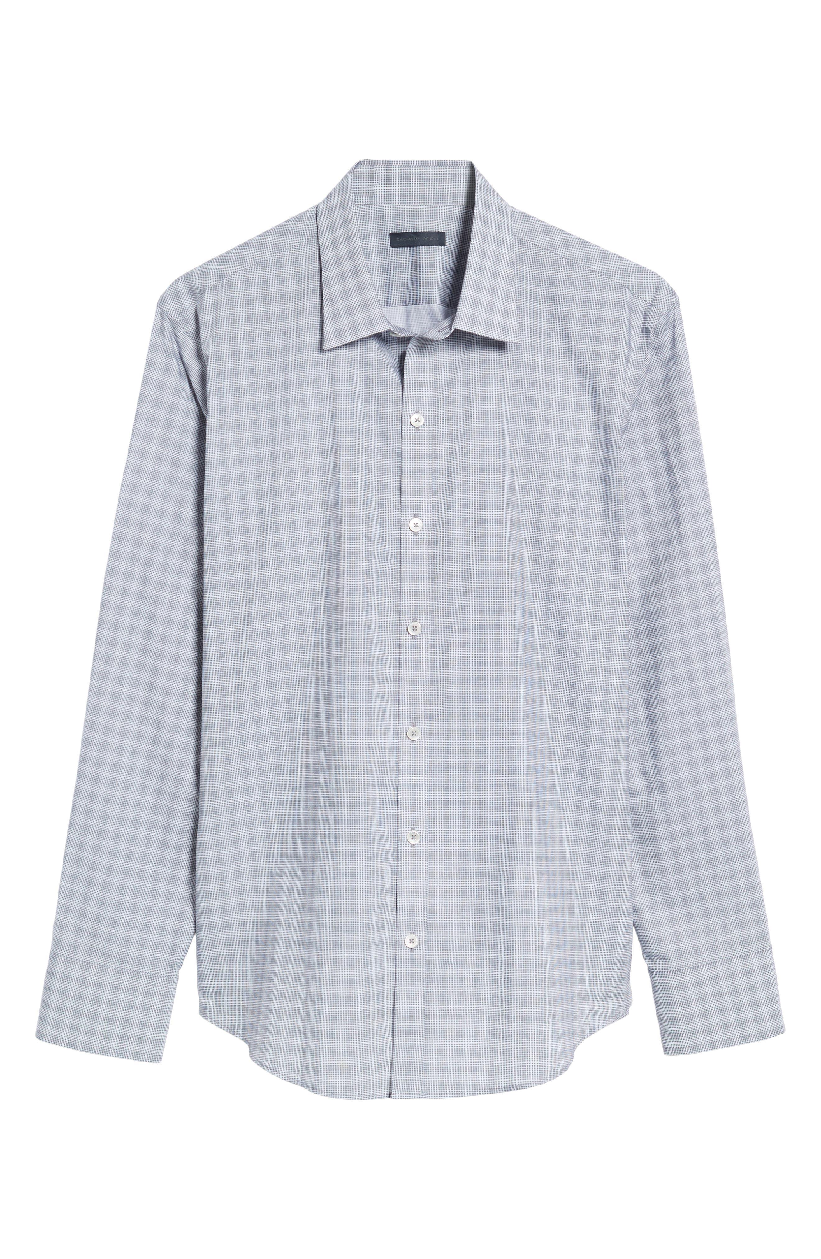 MacDonald Slim Fit Check Sport Shirt,                             Alternate thumbnail 6, color,                             050
