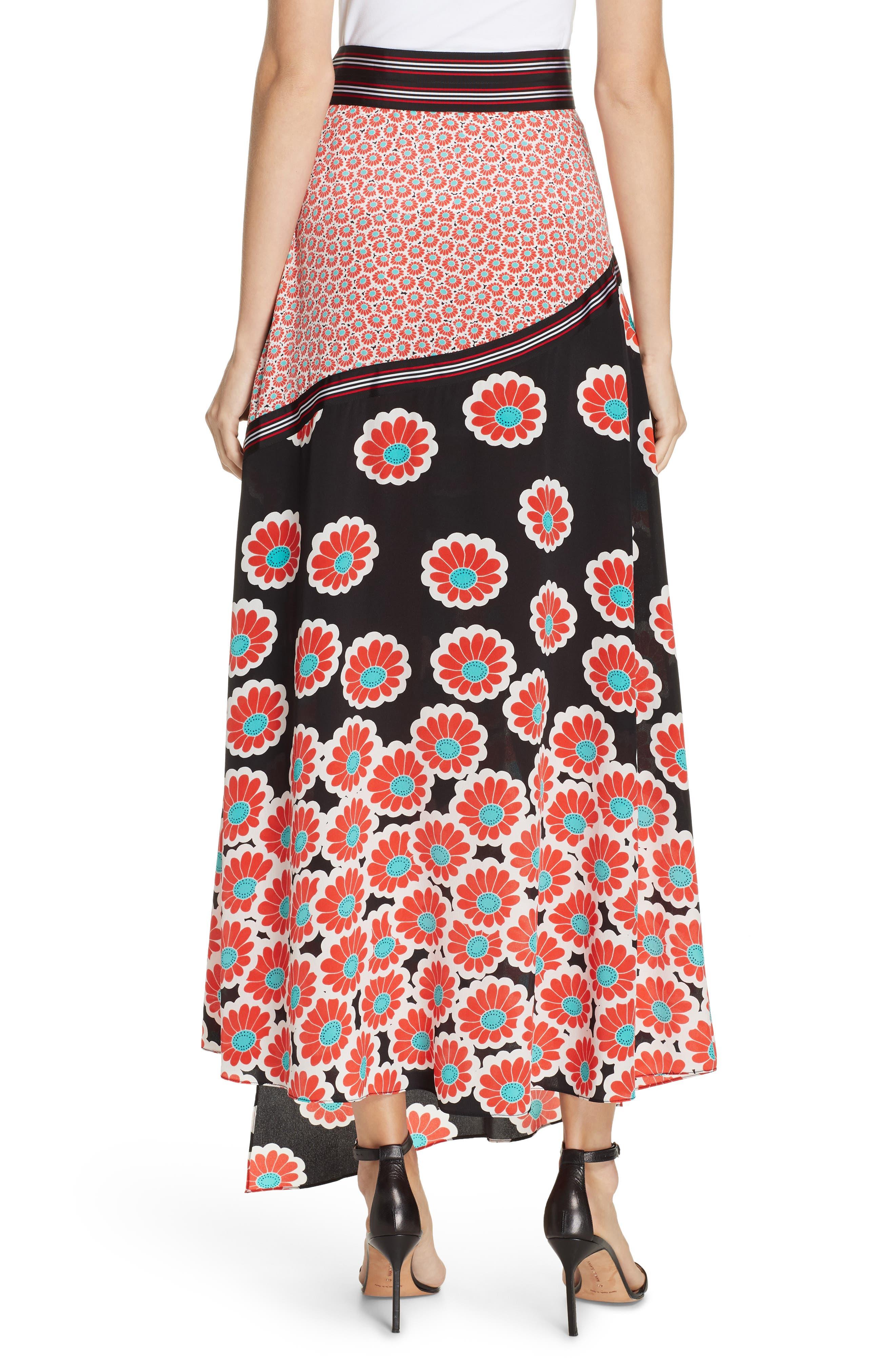 Taylor Wrap Maxi Skirt,                             Alternate thumbnail 2, color,                             KIMONO BLOSSOM BLACK MULTI