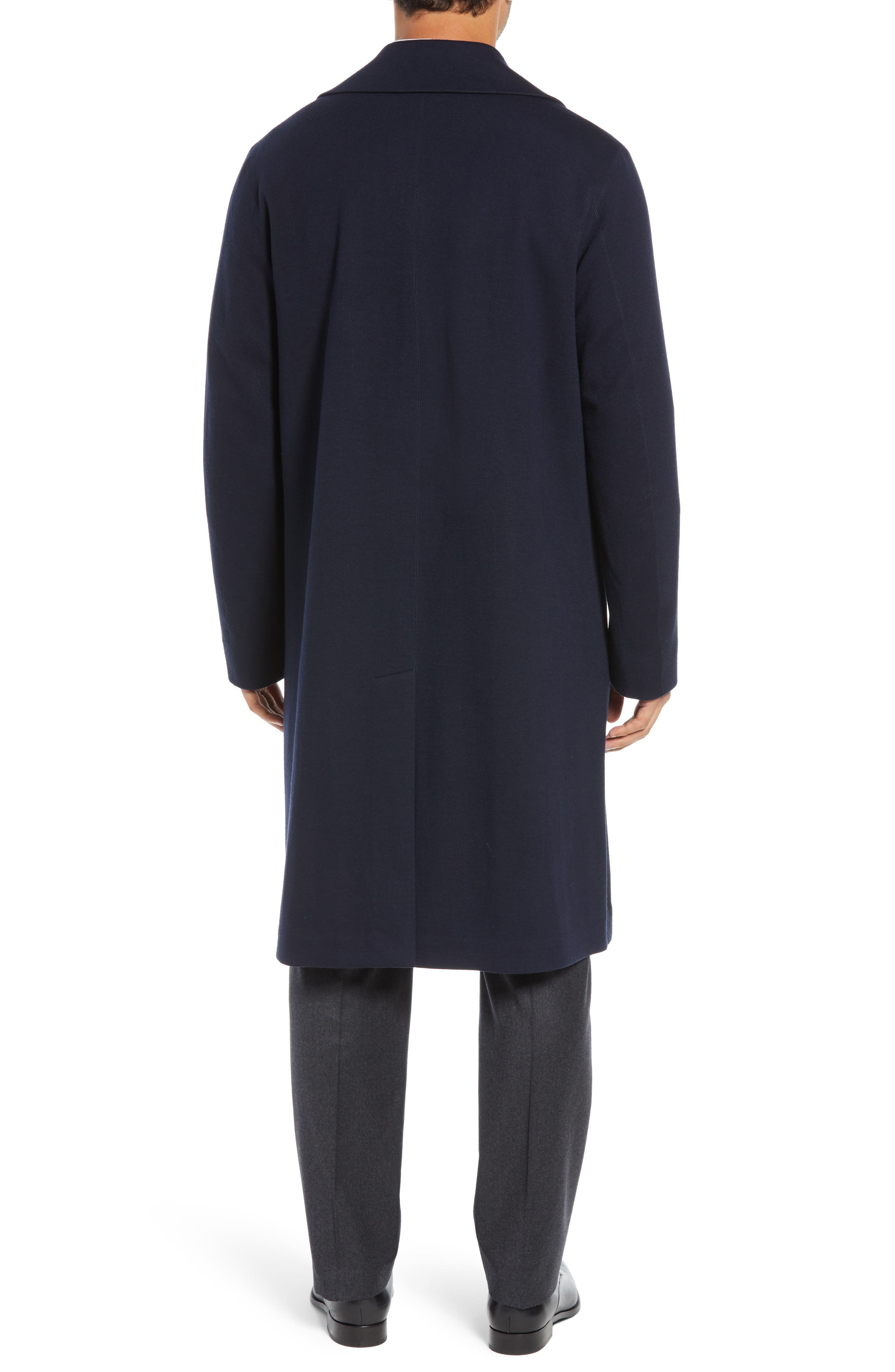 Wool Blend Chesterfield Coat,                             Alternate thumbnail 2, color,                             MIDNIGHT