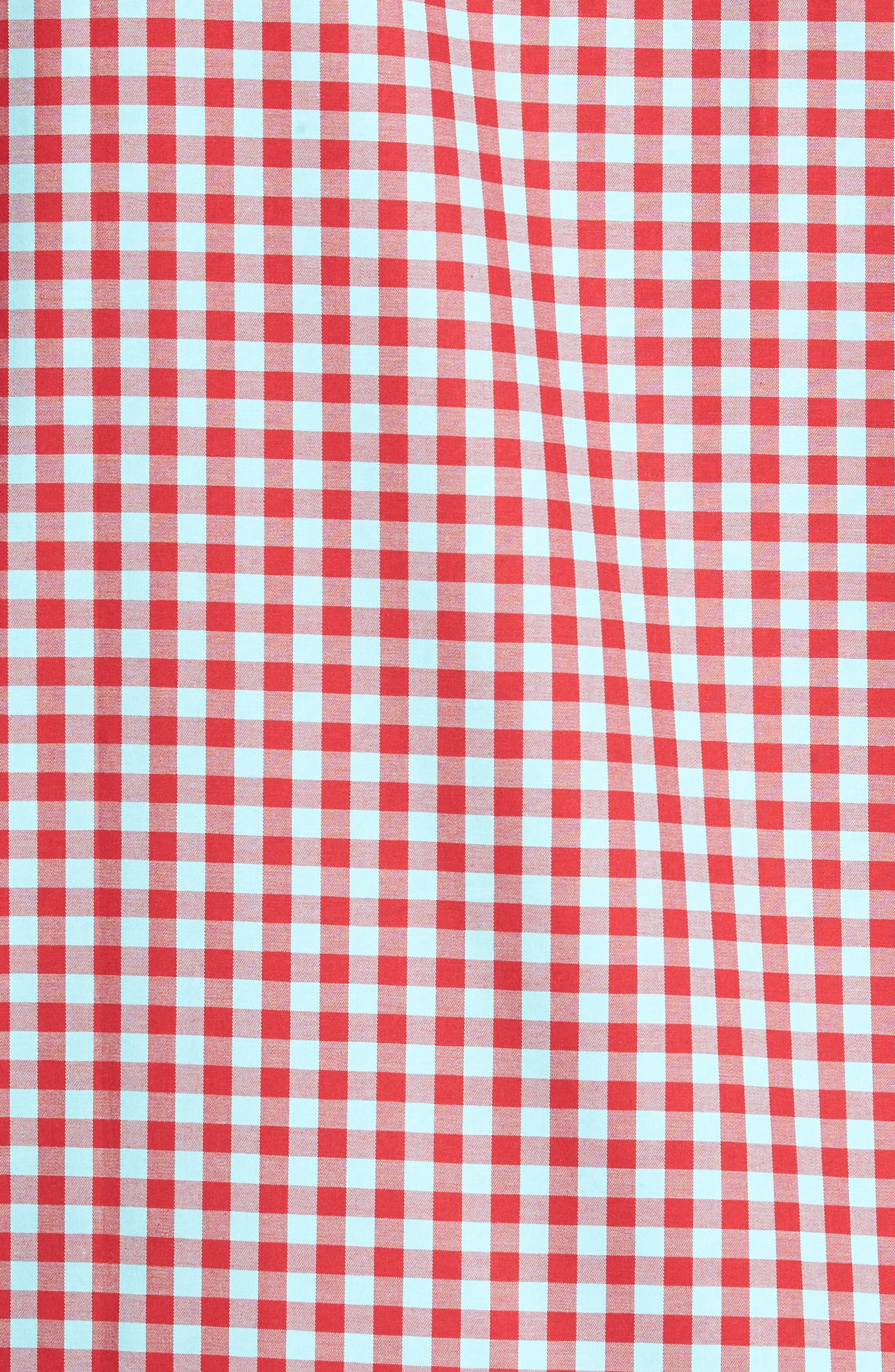 Classic Fit Gingham Short Sleeve Sport Shirt,                             Alternate thumbnail 5, color,                             602