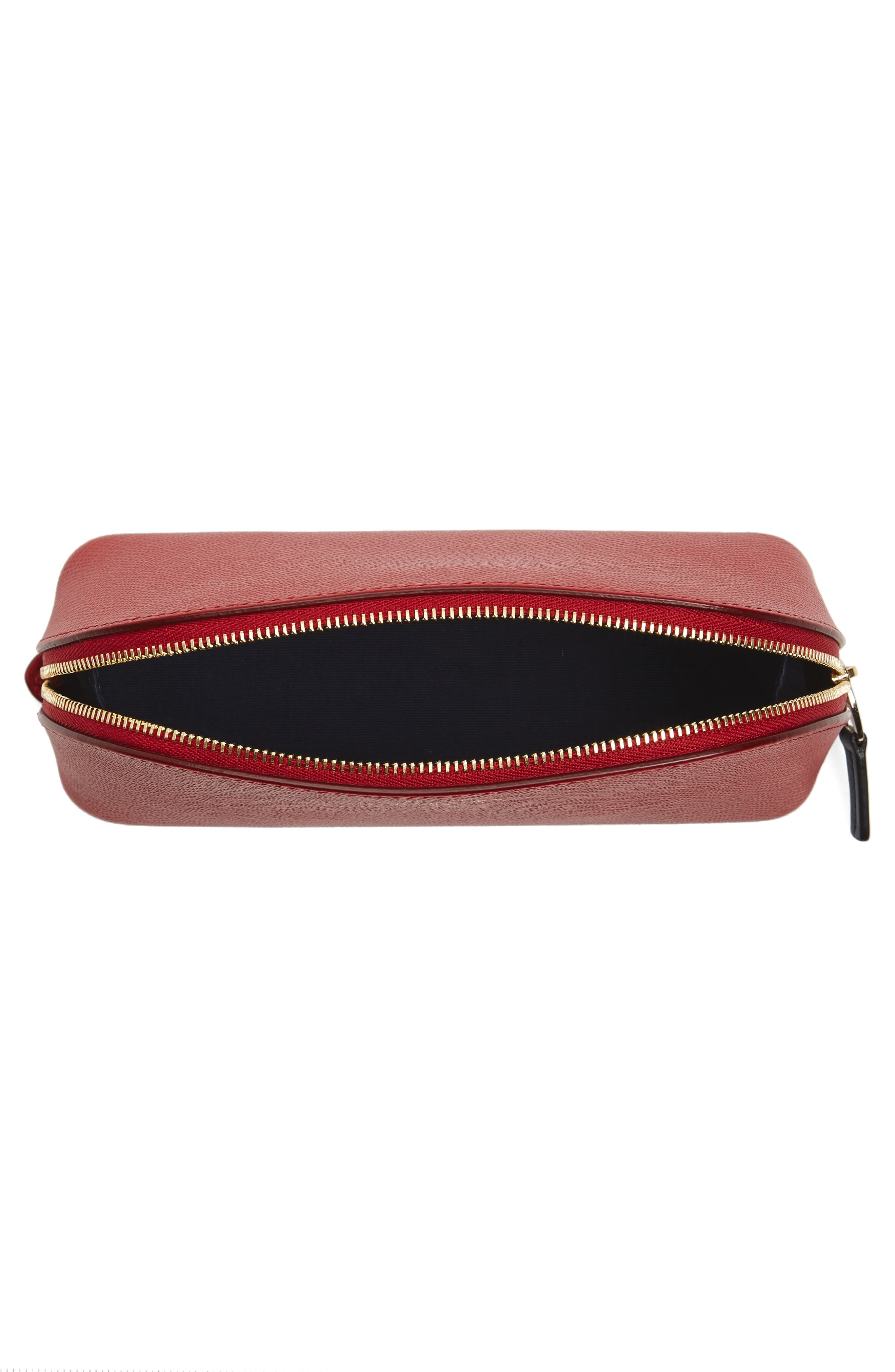 Small Calfskin Leather Cosmetics Case,                             Alternate thumbnail 4, color,                             600