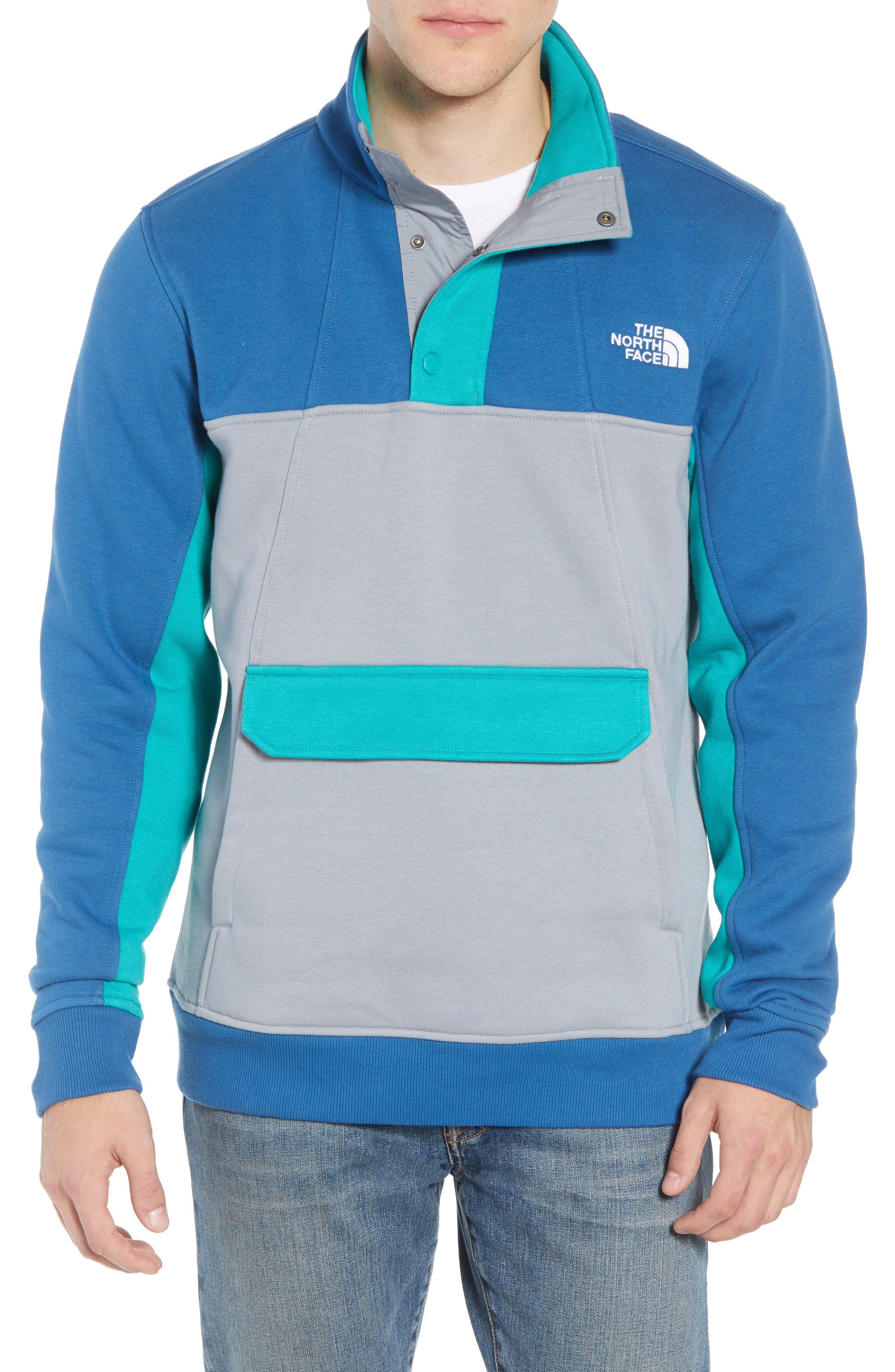 Alphabet City Fleece Pullover,                             Main thumbnail 1, color,                             DISH BLUE/ MID GREY/ GREEN