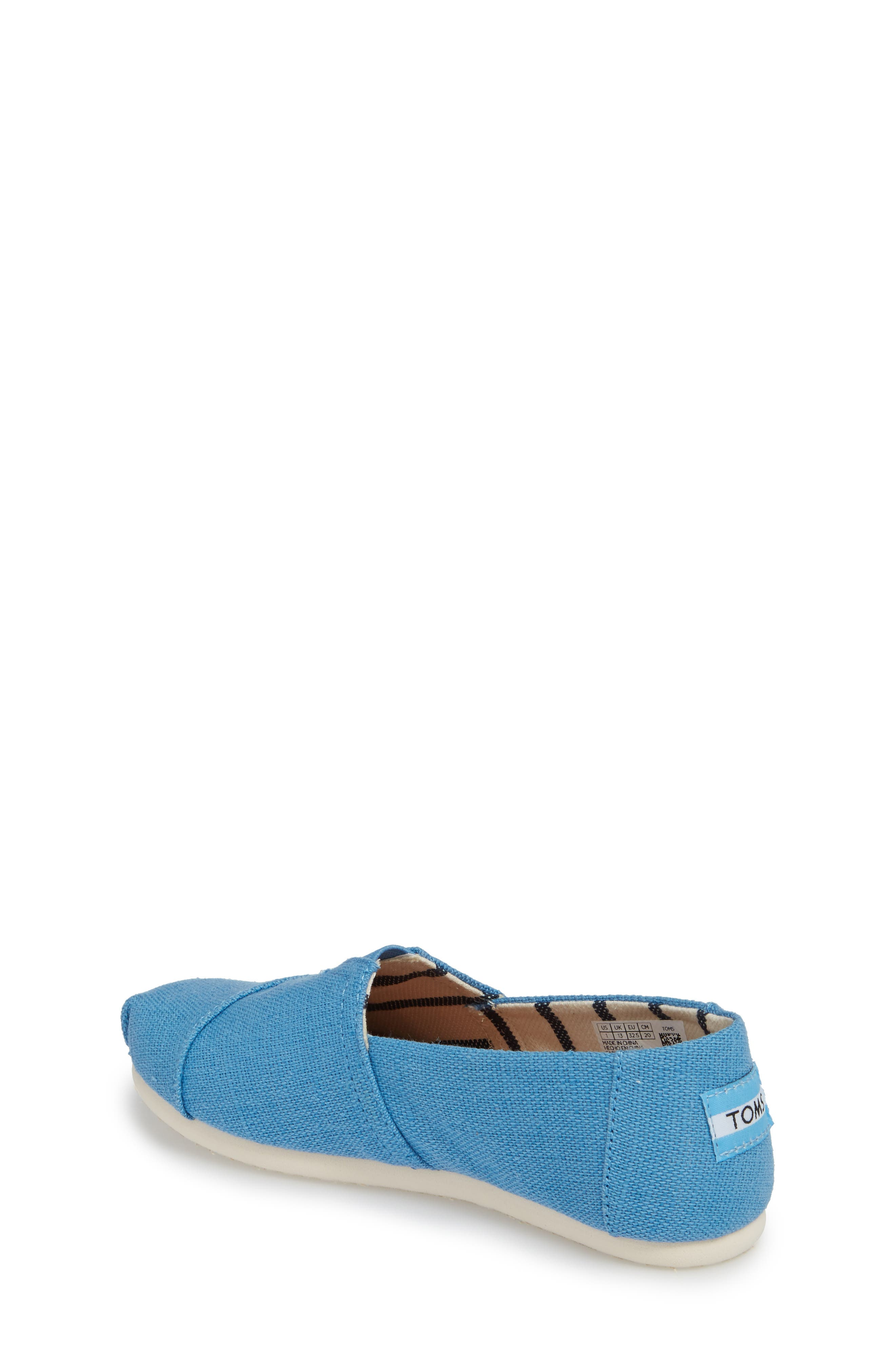 Classic Print Slip-On,                             Alternate thumbnail 2, color,                             CLEAR SKY HERITAGE CANVAS