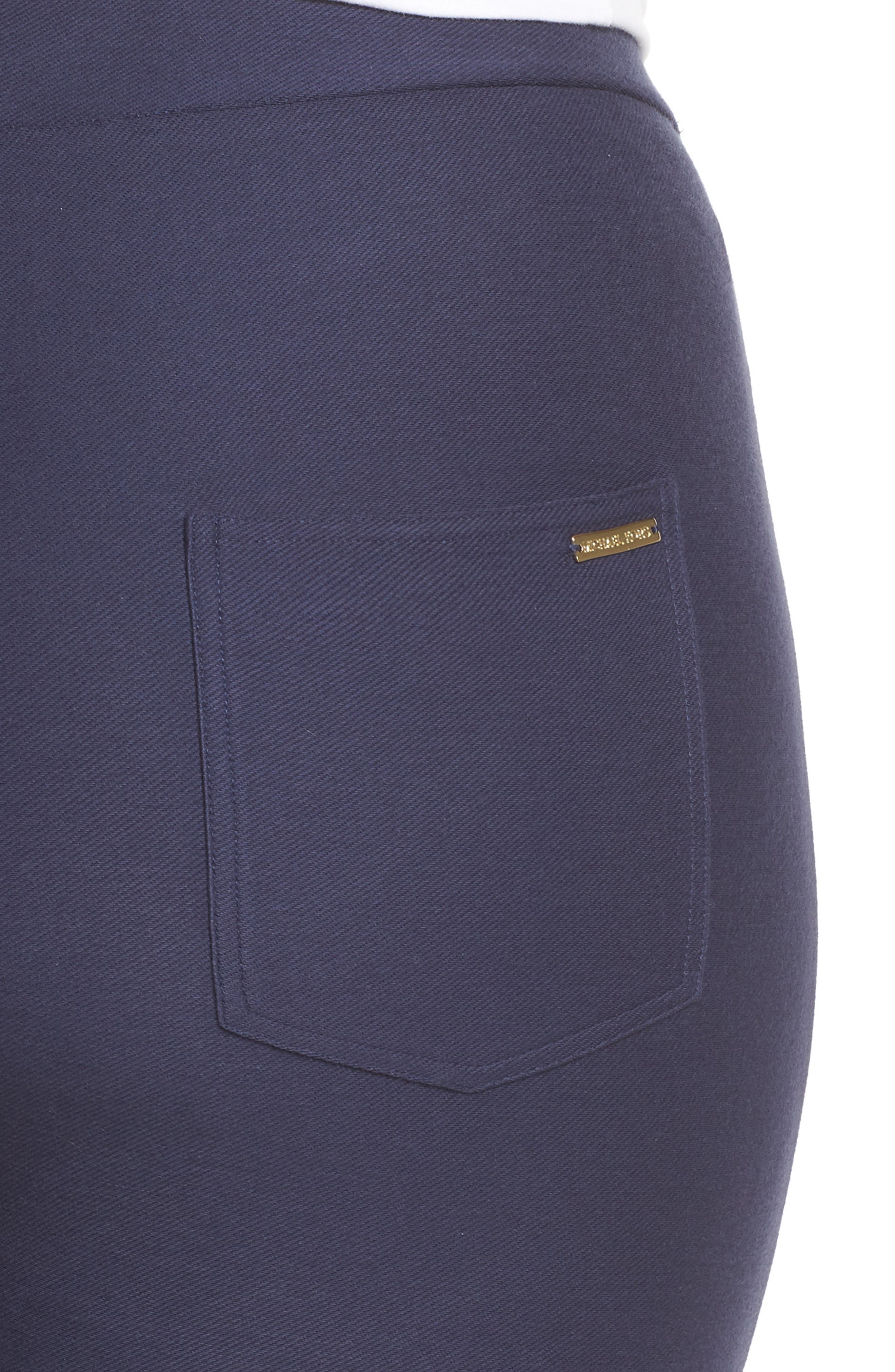 Embellished Cuff Leggings,                             Alternate thumbnail 4, color,                             TRUE NAVY