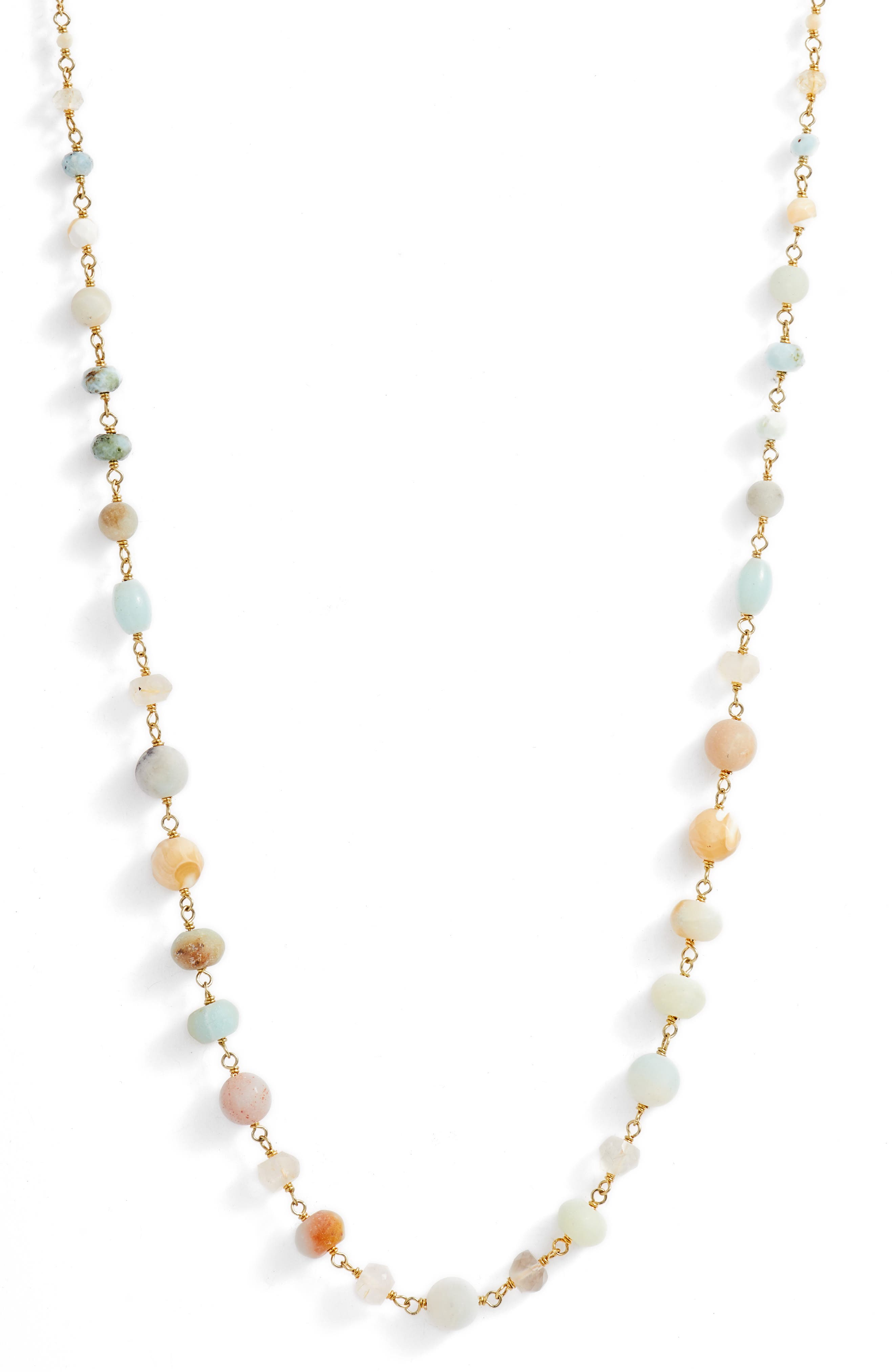 Mixed Bead Station Necklace,                             Alternate thumbnail 2, color,                             211