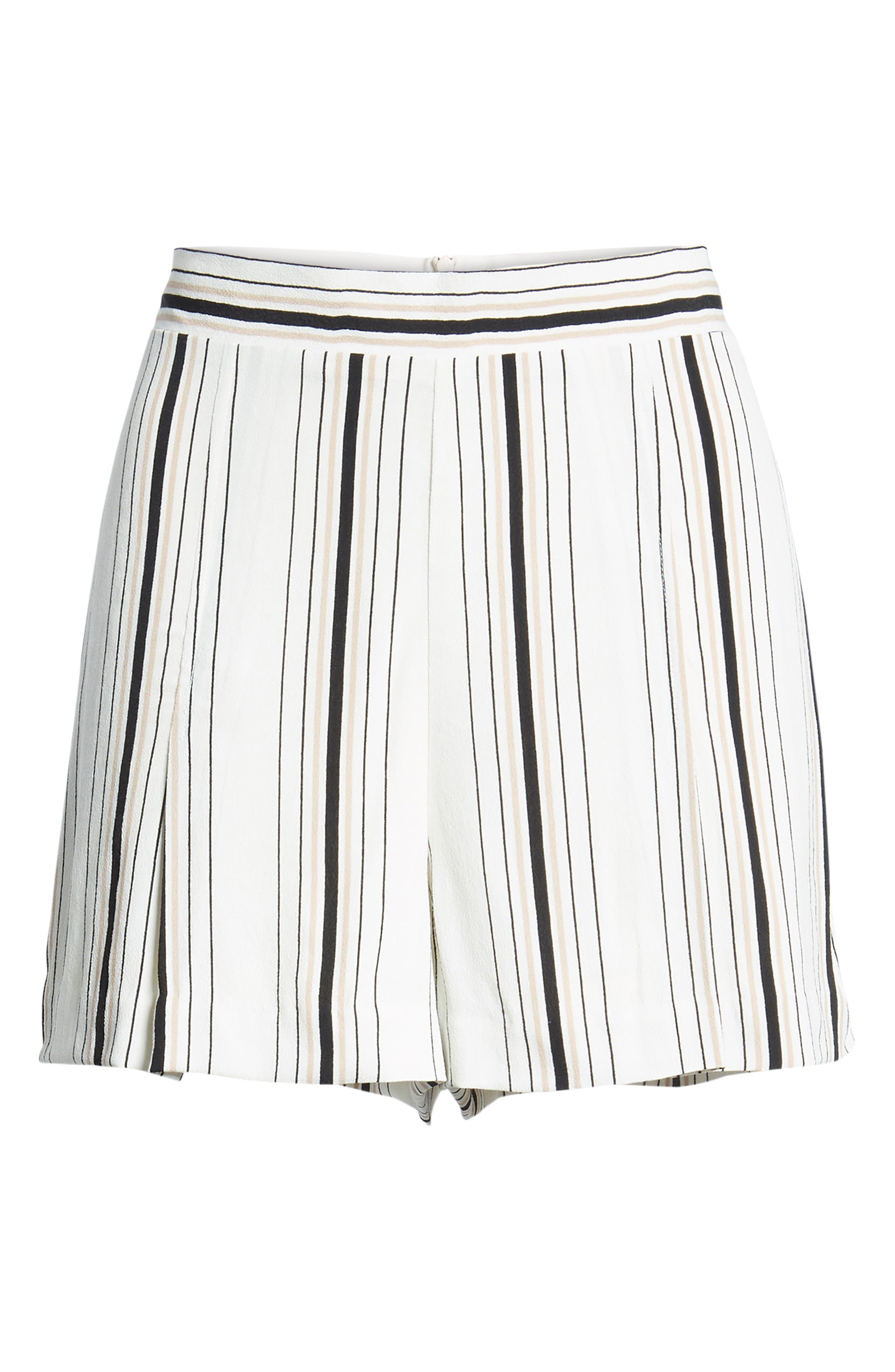 Stripe High Waist Woven Shorts,                             Alternate thumbnail 6, color,