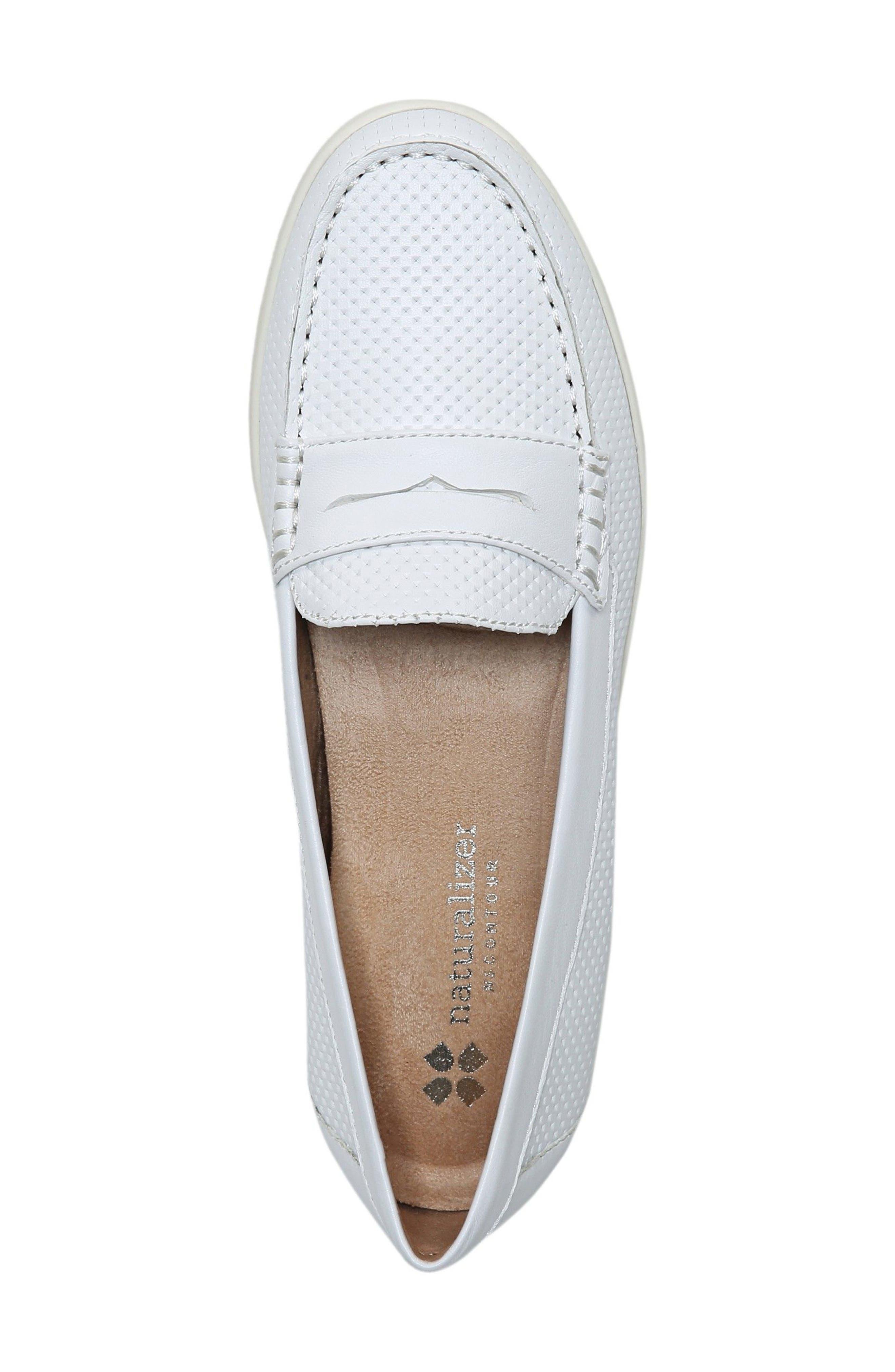 Gwen Slip-On Sneaker,                             Alternate thumbnail 3, color,                             WHITE LEATHER