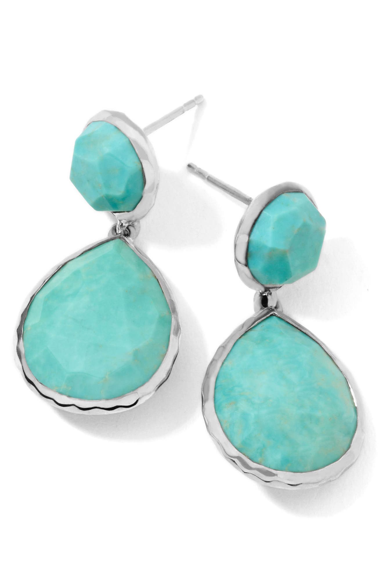 'Rock Candy - Snowman' Drop Earrings,                             Main thumbnail 1, color,                             SILVER/TURQUOISE