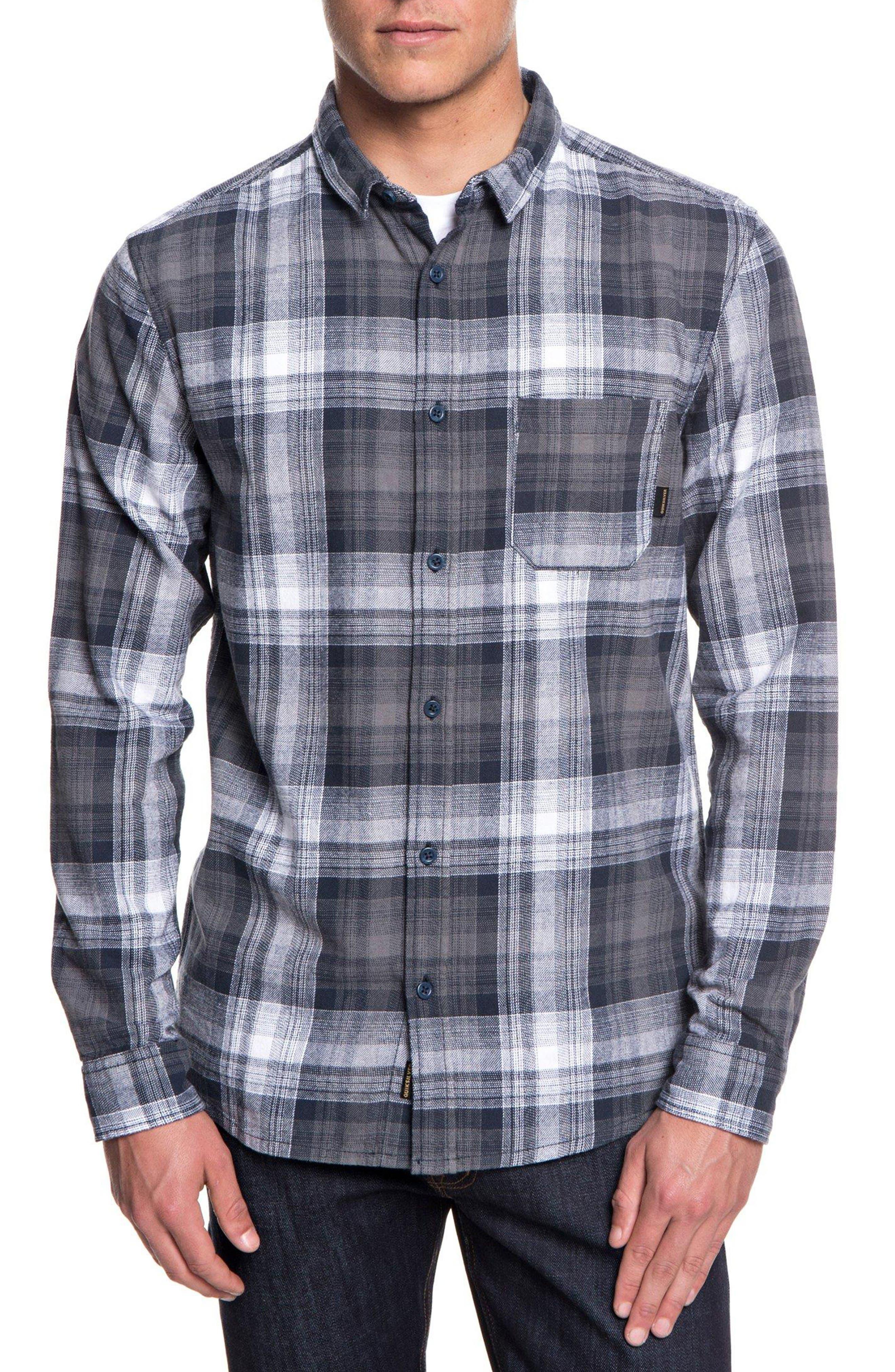 Fatherfly Plaid Shirt,                             Main thumbnail 1, color,                             BLUE NIGHT FATHERFLY CHECK