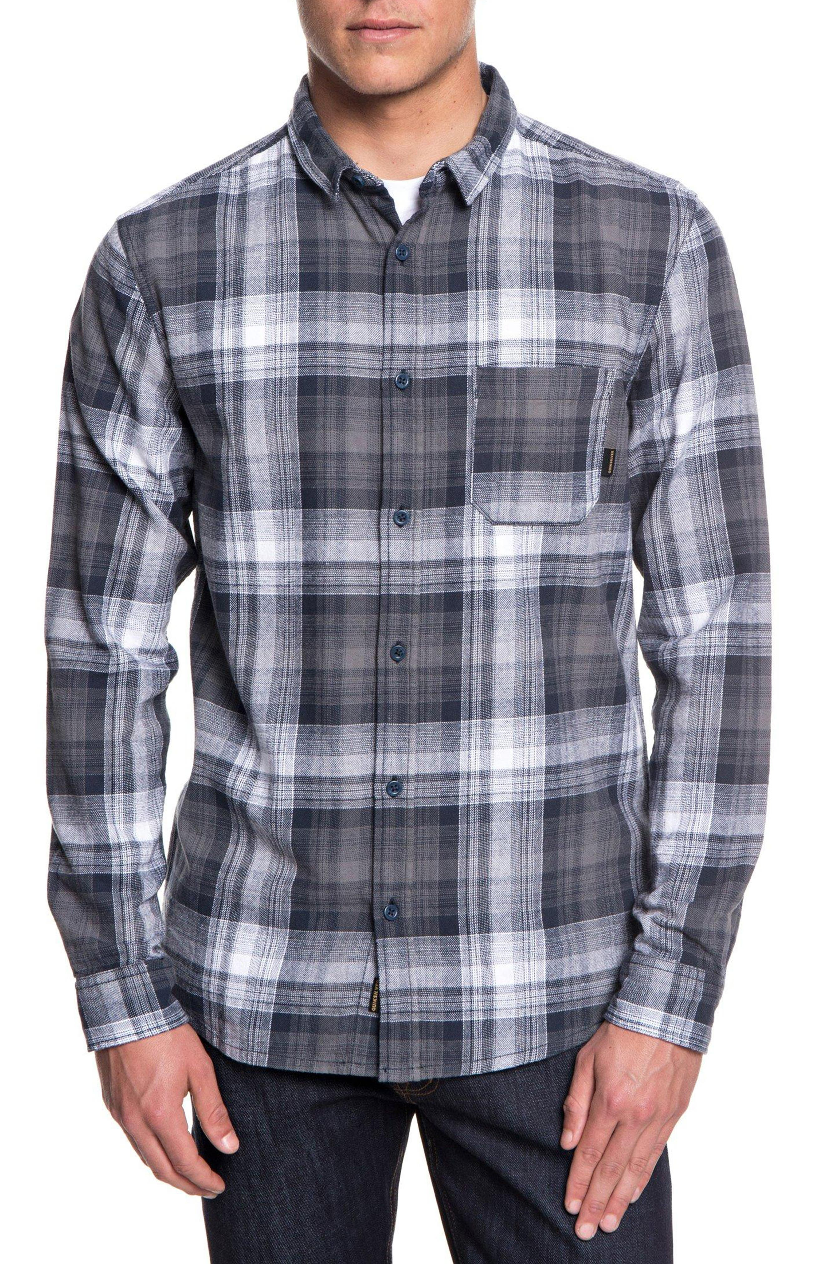 Fatherfly Plaid Shirt,                         Main,                         color, BLUE NIGHT FATHERFLY CHECK