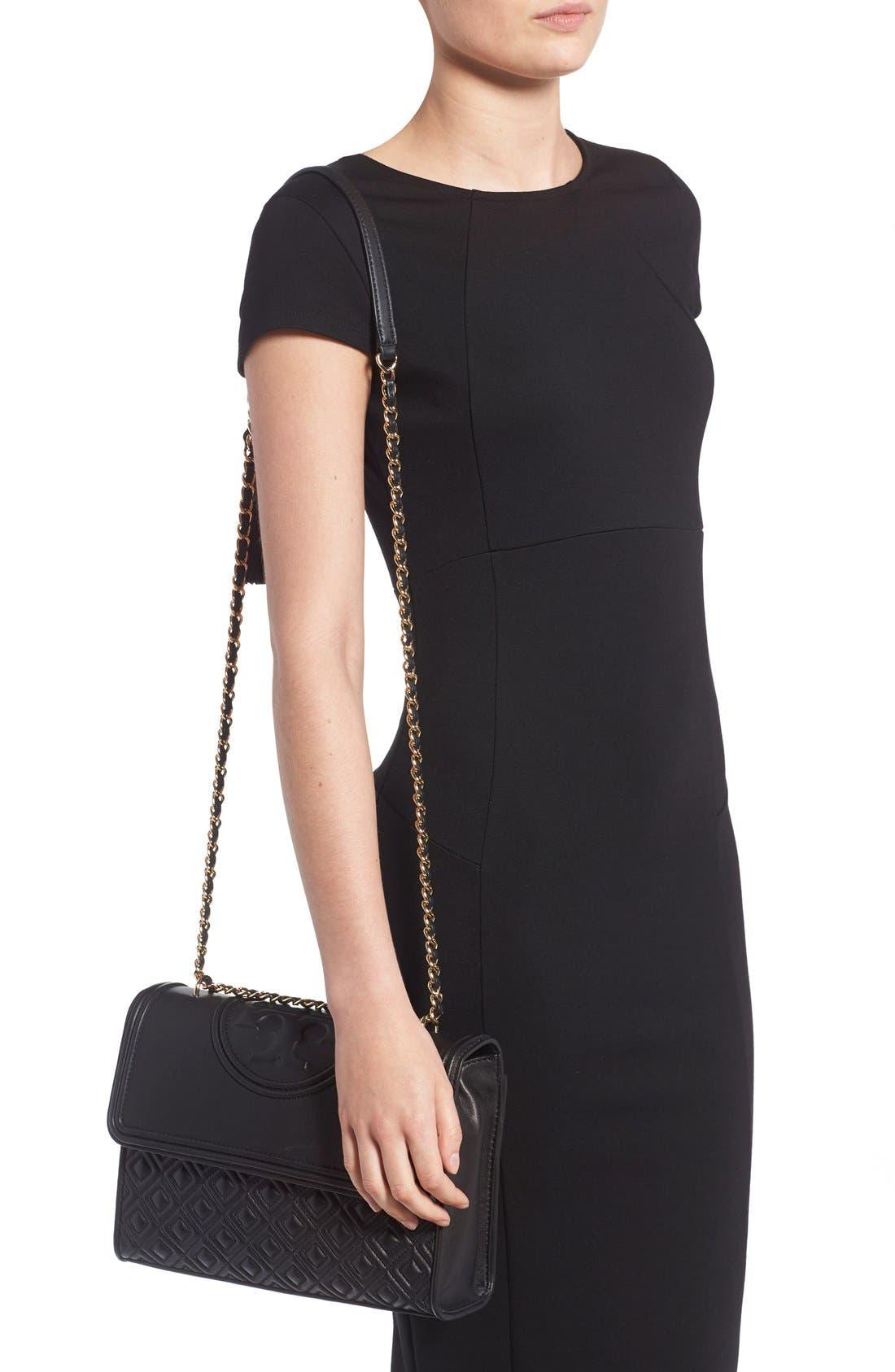 'Fleming' Convertible Shoulder Bag,                             Alternate thumbnail 2, color,                             BLACK