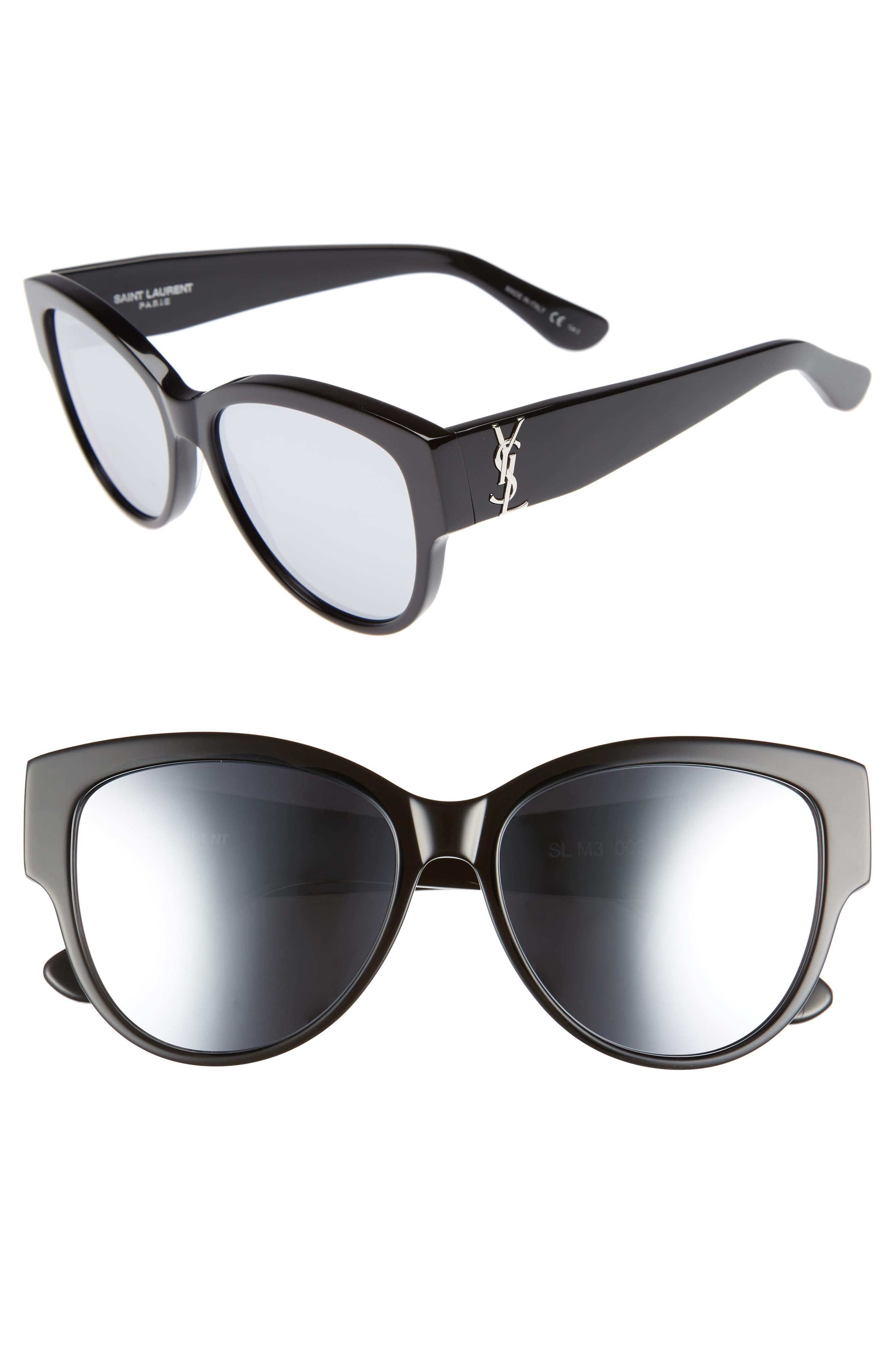 55mm Cat Eye Sunglasses,                             Main thumbnail 2, color,