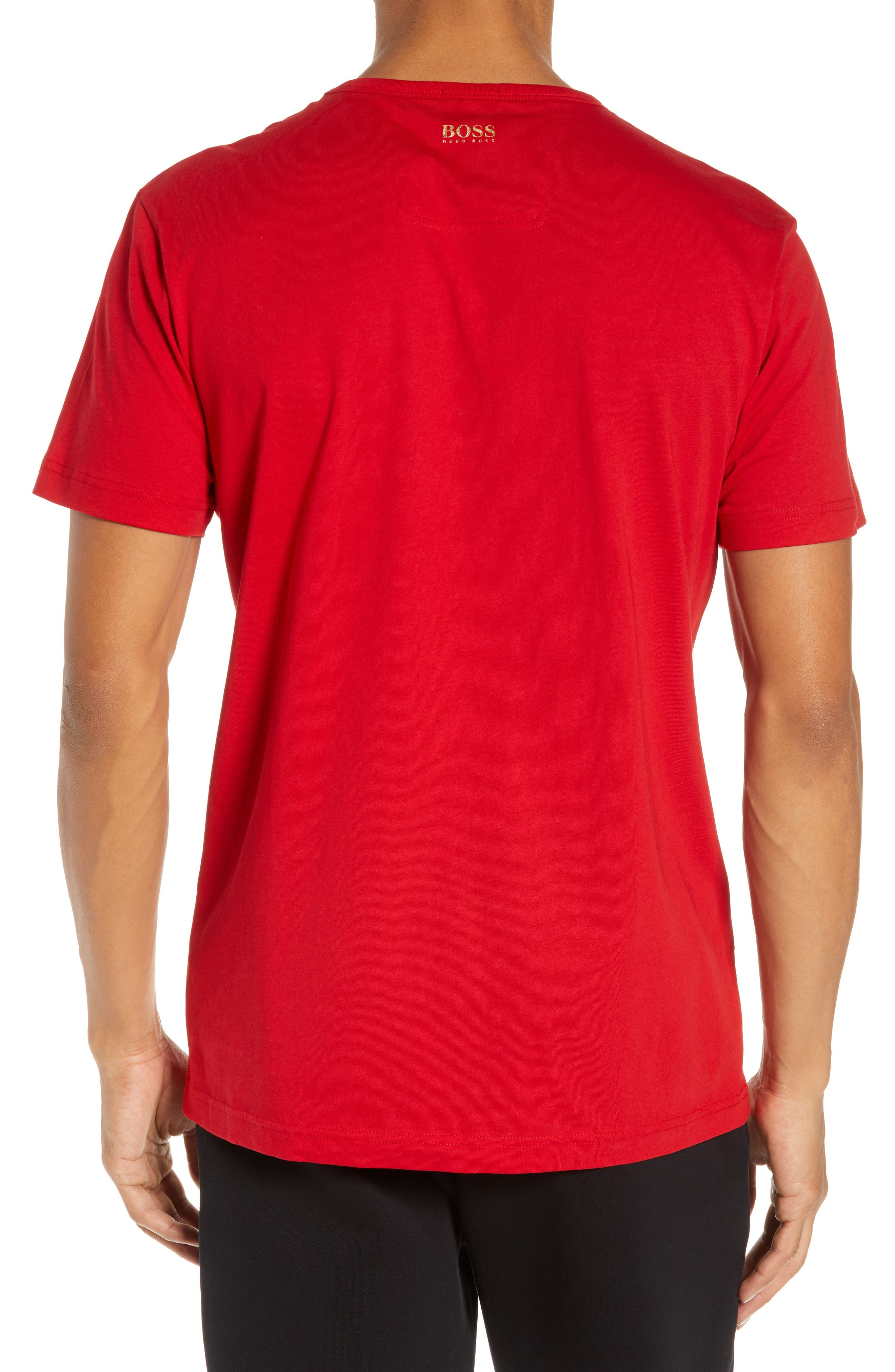 BOSS,                             CNY Regular Fit T-Shirt,                             Alternate thumbnail 2, color,                             RED
