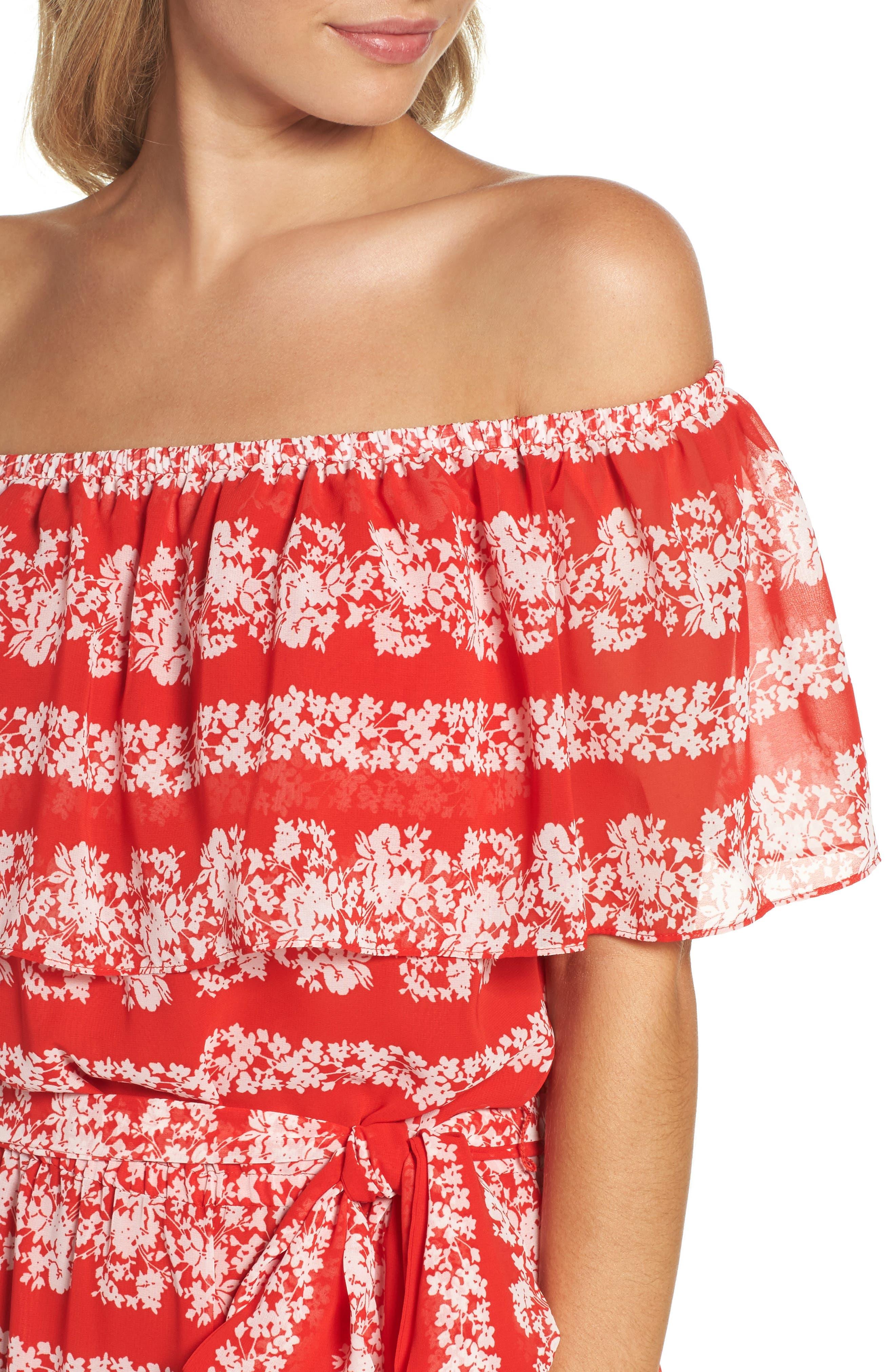 Off the Shoulder Maxi Dress,                             Alternate thumbnail 4, color,                             610