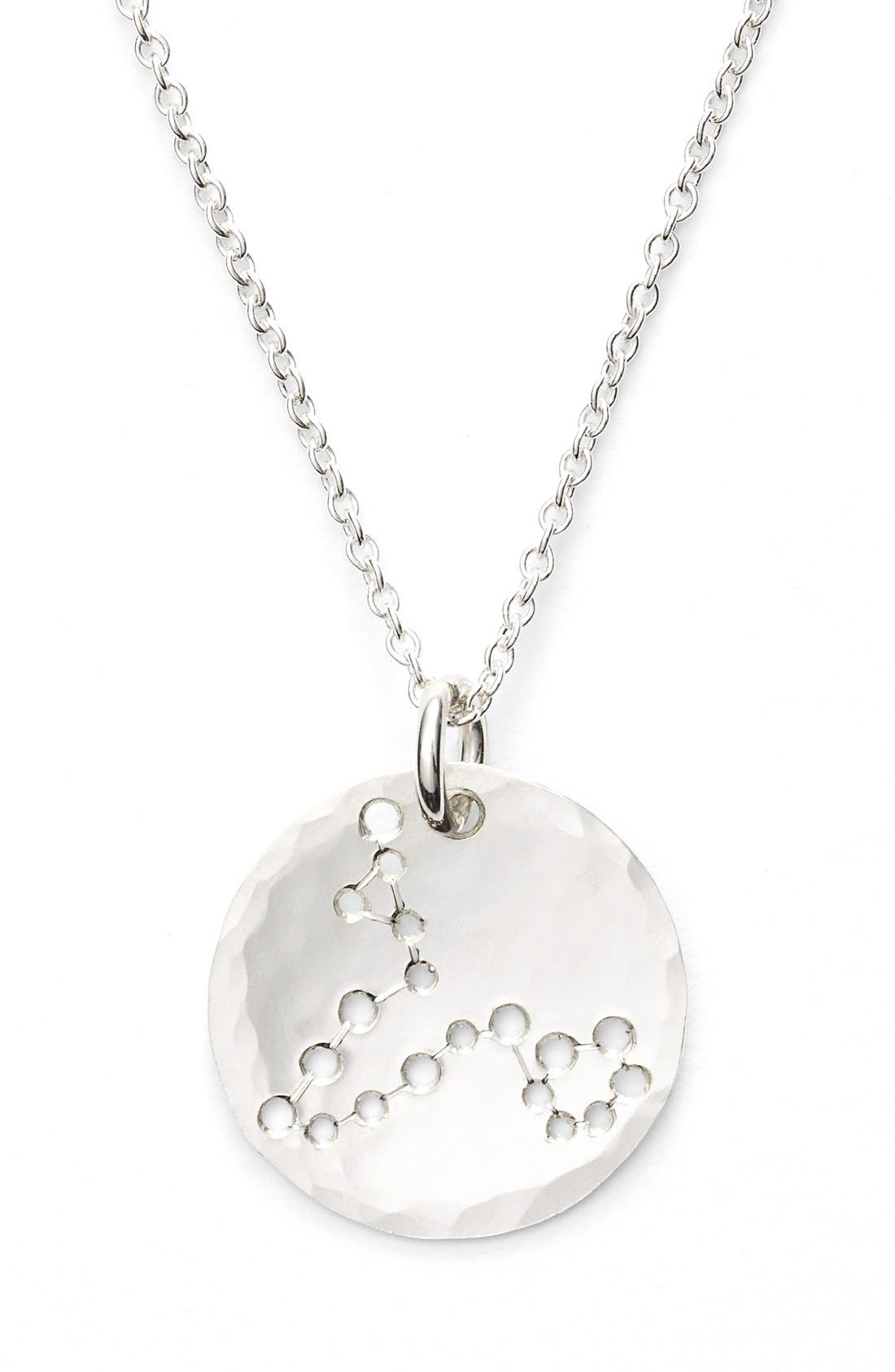 Ija 'Small Zodiac' Sterling Silver Necklace,                             Alternate thumbnail 13, color,
