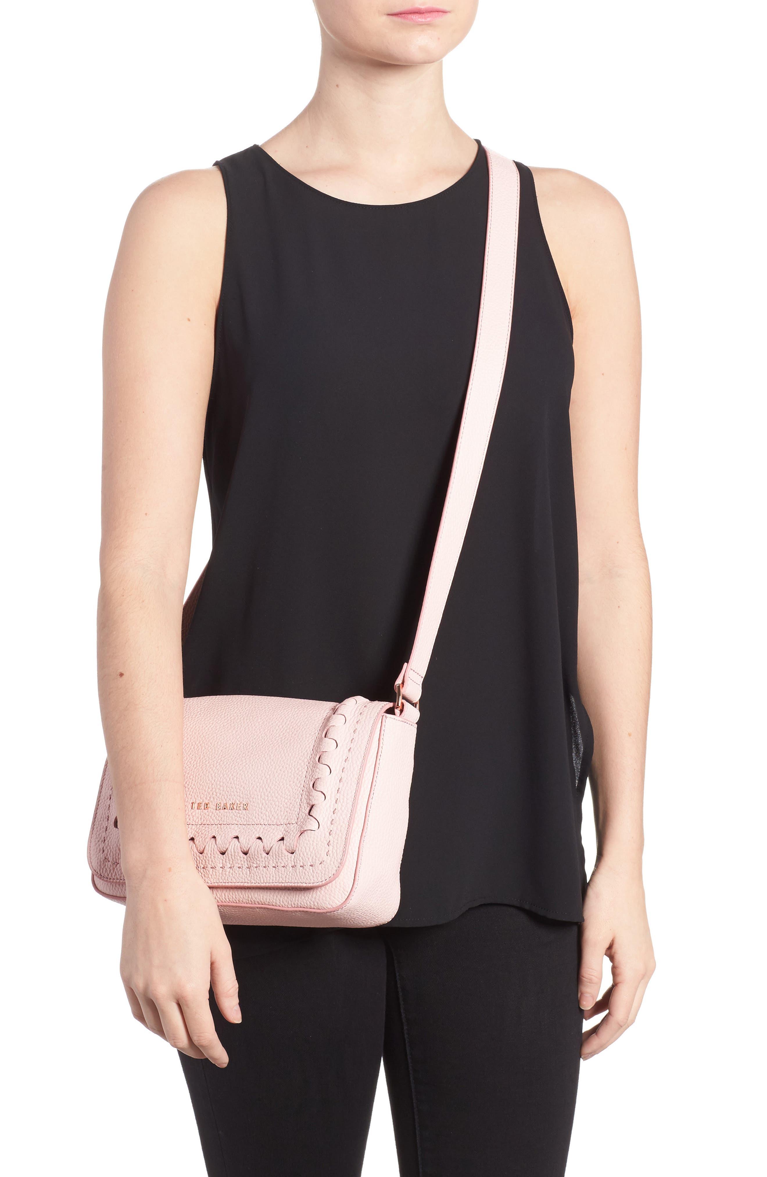 Tippi Leather Crossbody Bag,                             Alternate thumbnail 6, color,