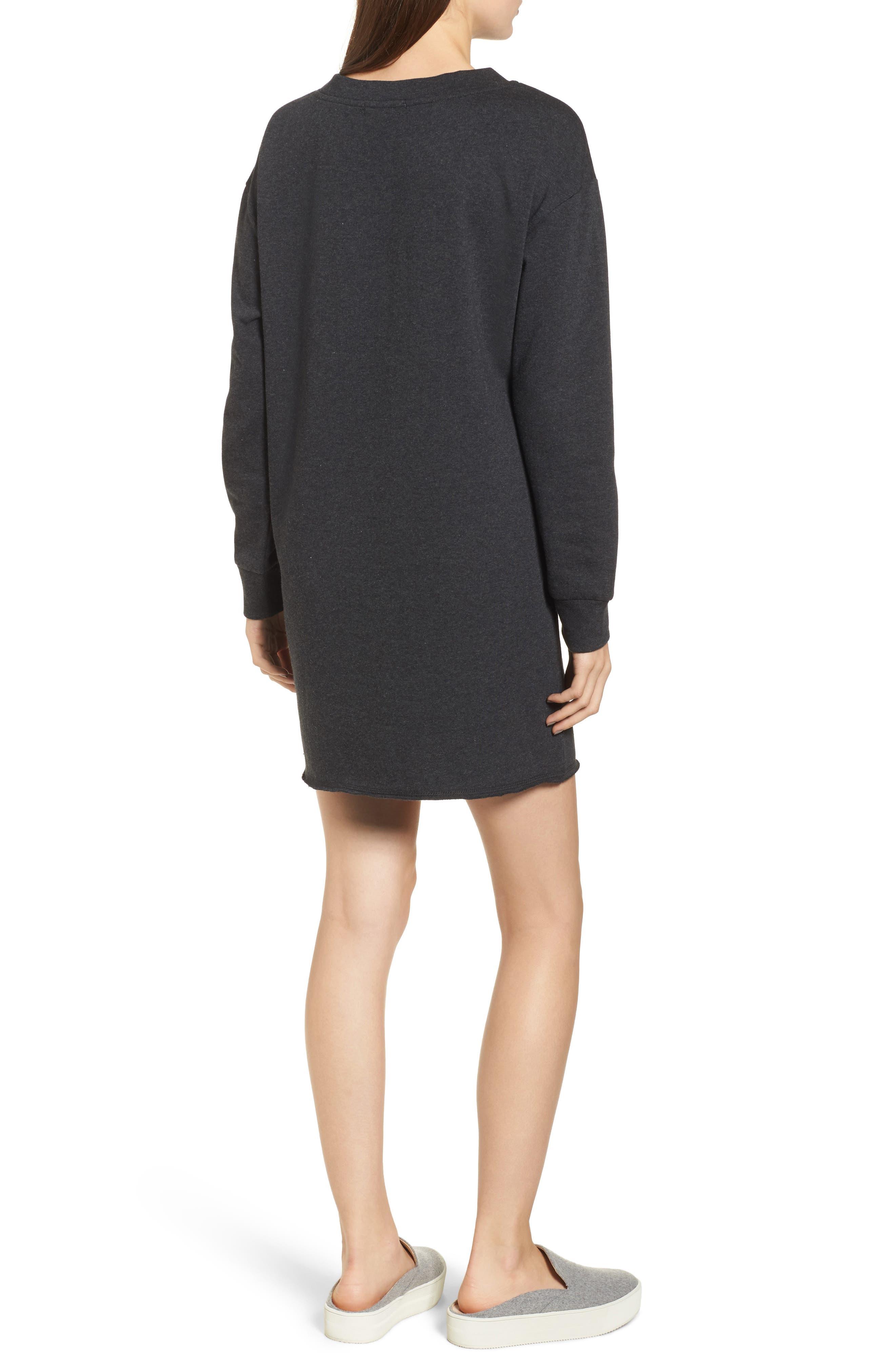 Lace-Up Sweatshirt Dress,                             Alternate thumbnail 2, color,                             020