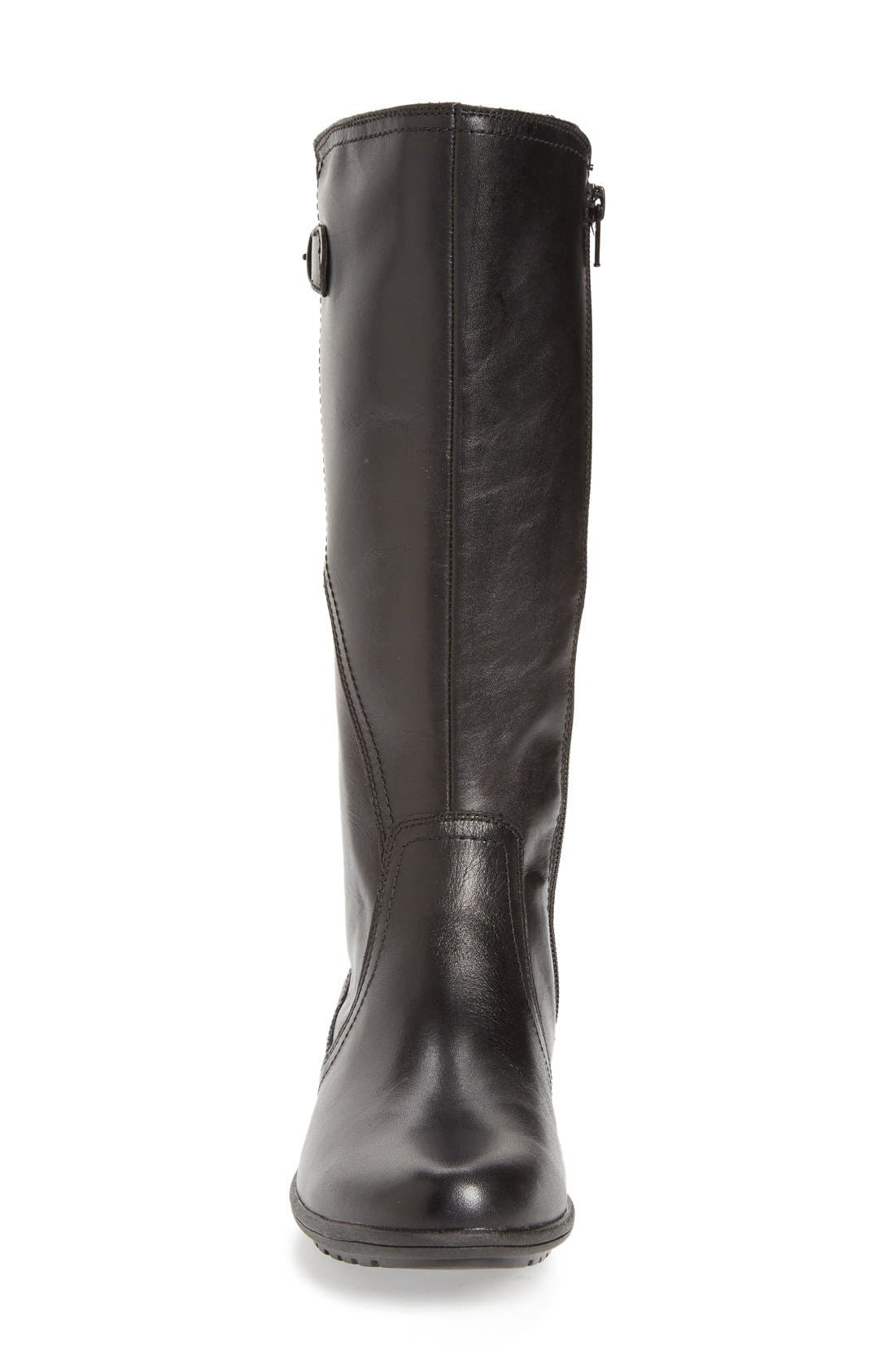 'Rayna' Waterproof Boot,                             Alternate thumbnail 2, color,                             BLACK LEATHER
